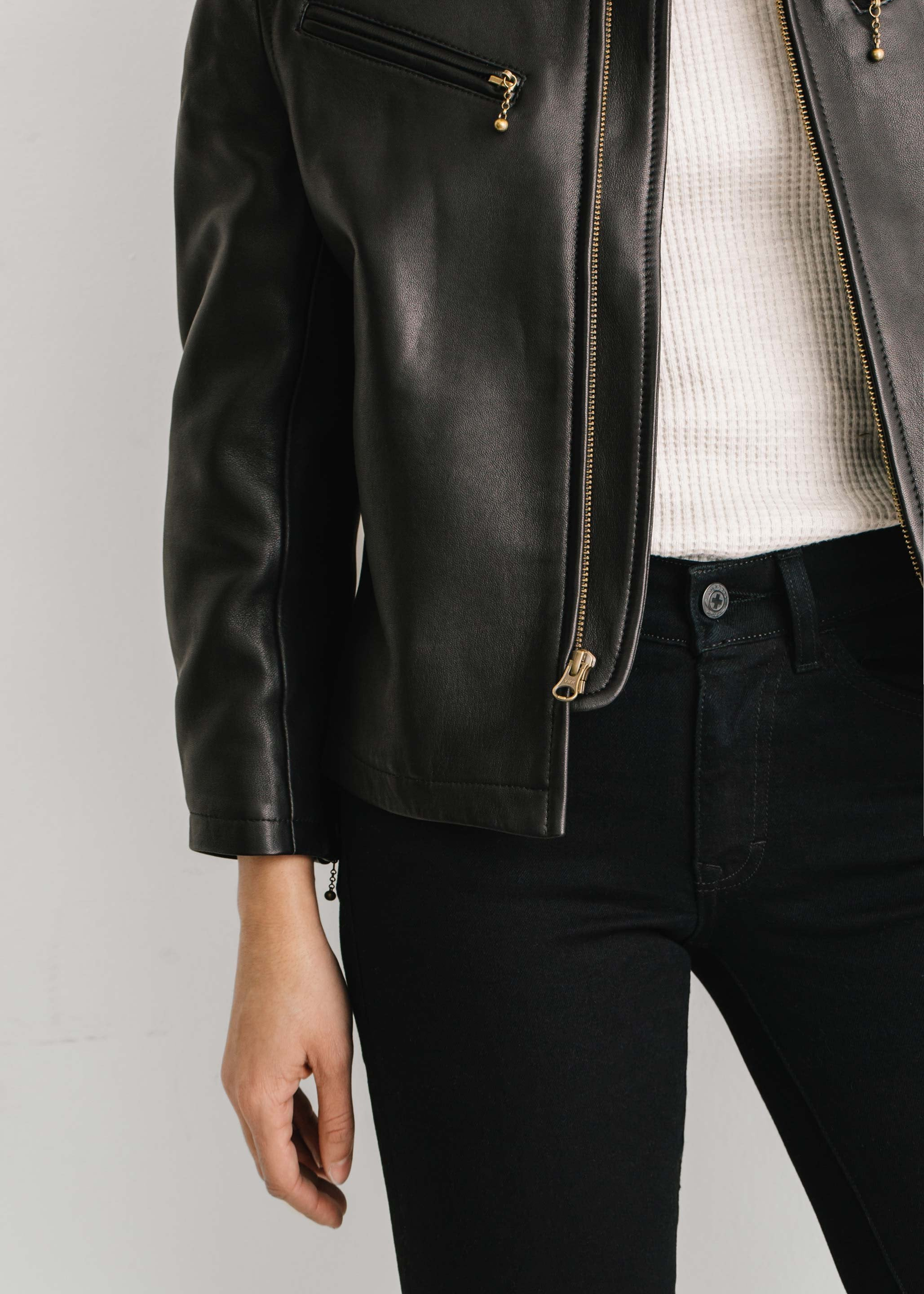 imogene + willie - the cass leather jacket