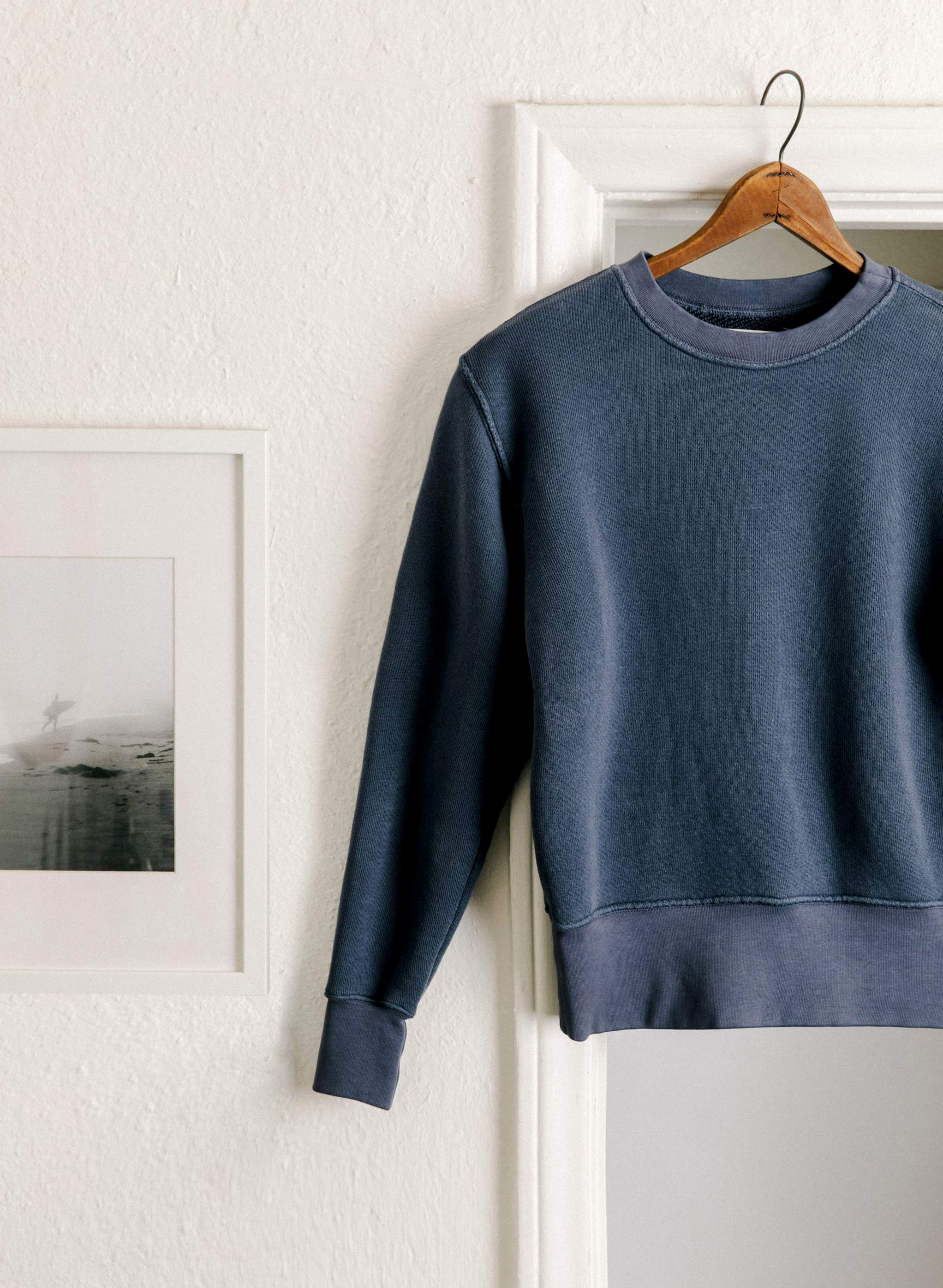 imogene + willie - lina sweatshirt in faded blue