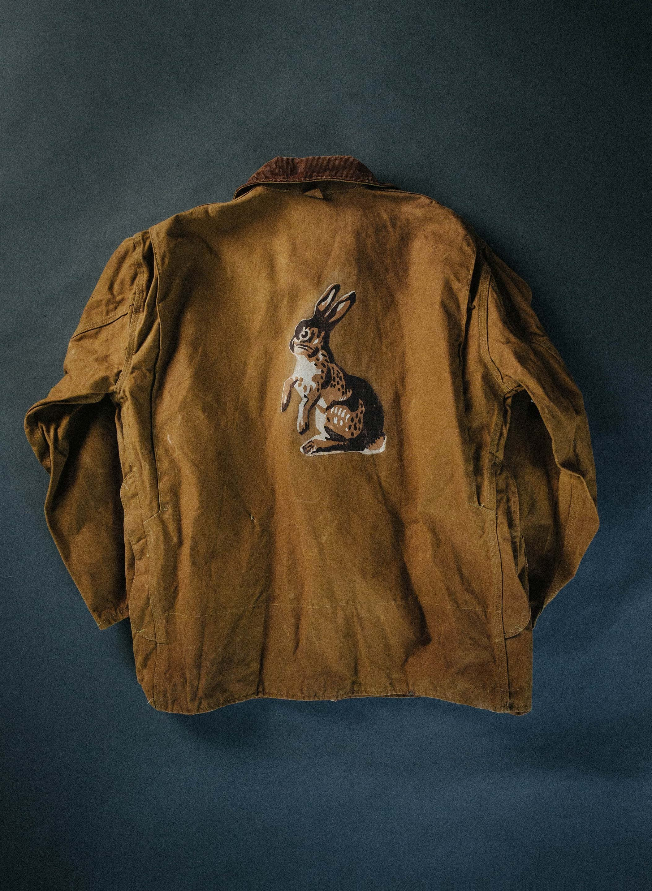 "imogene + willie - vintage ""jack rabbit"" painted jacket"