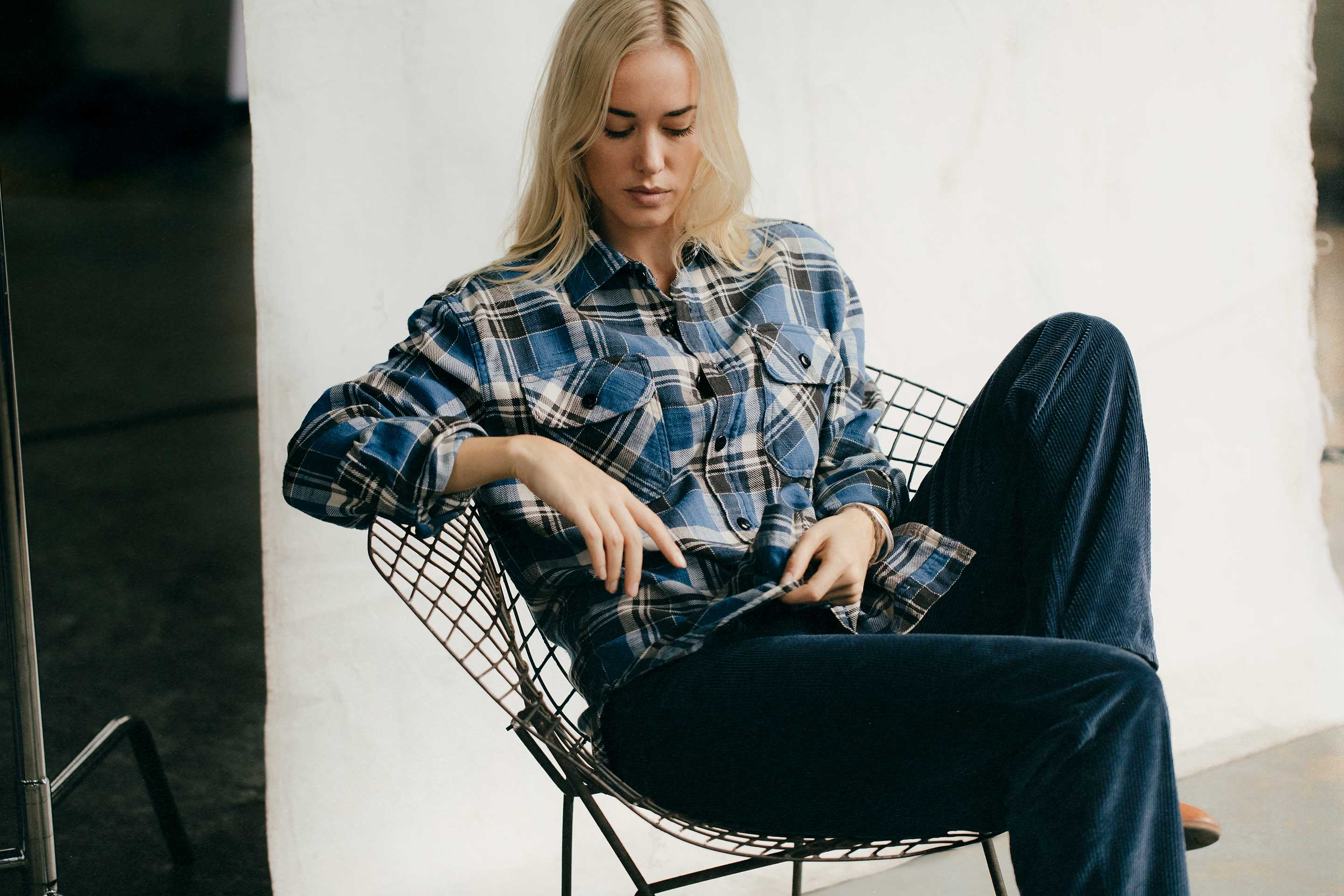 imogene + willie - earl plaid in moraine