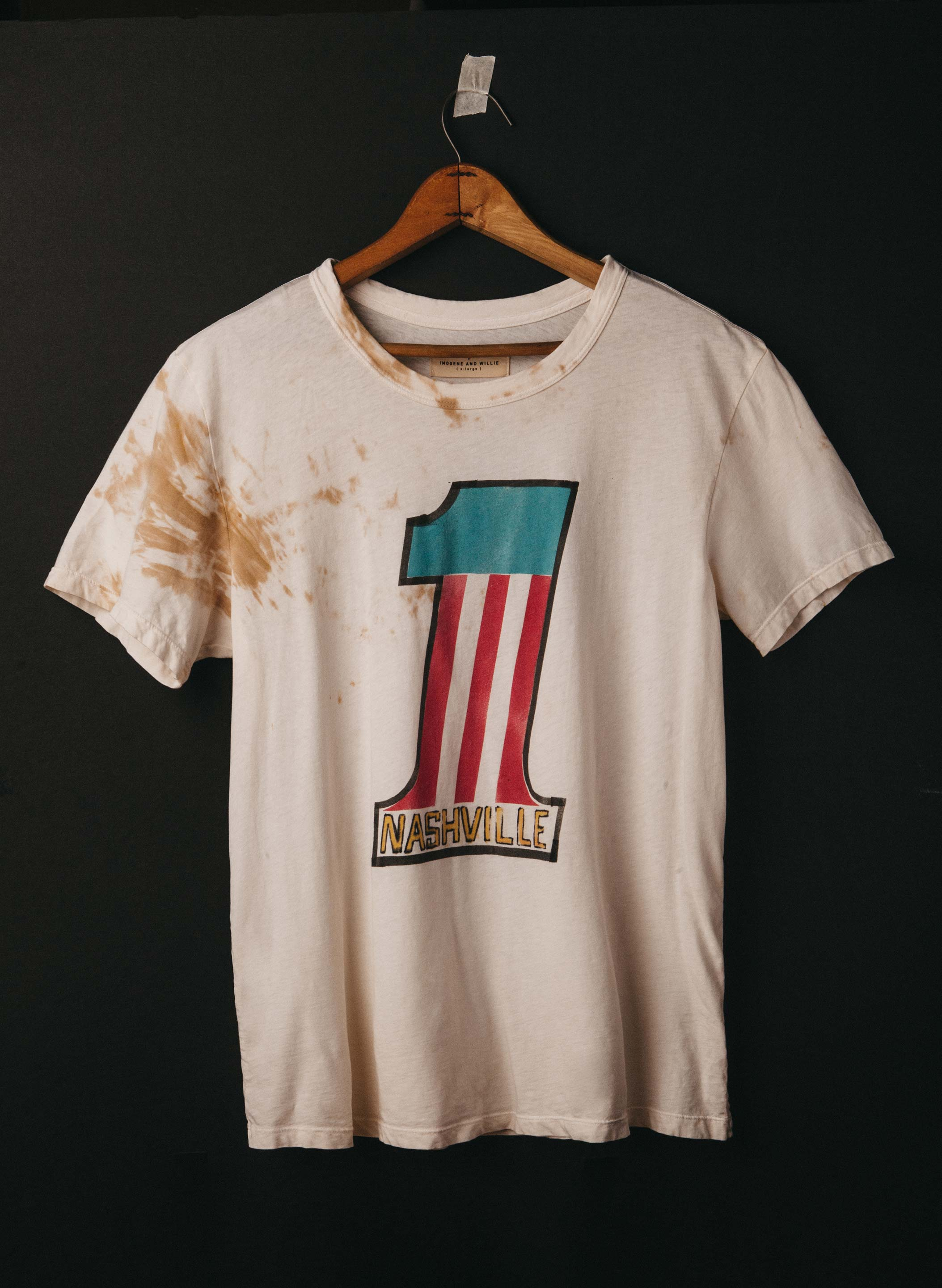 "imogene + willie - handpainted ""nashville"" tee"