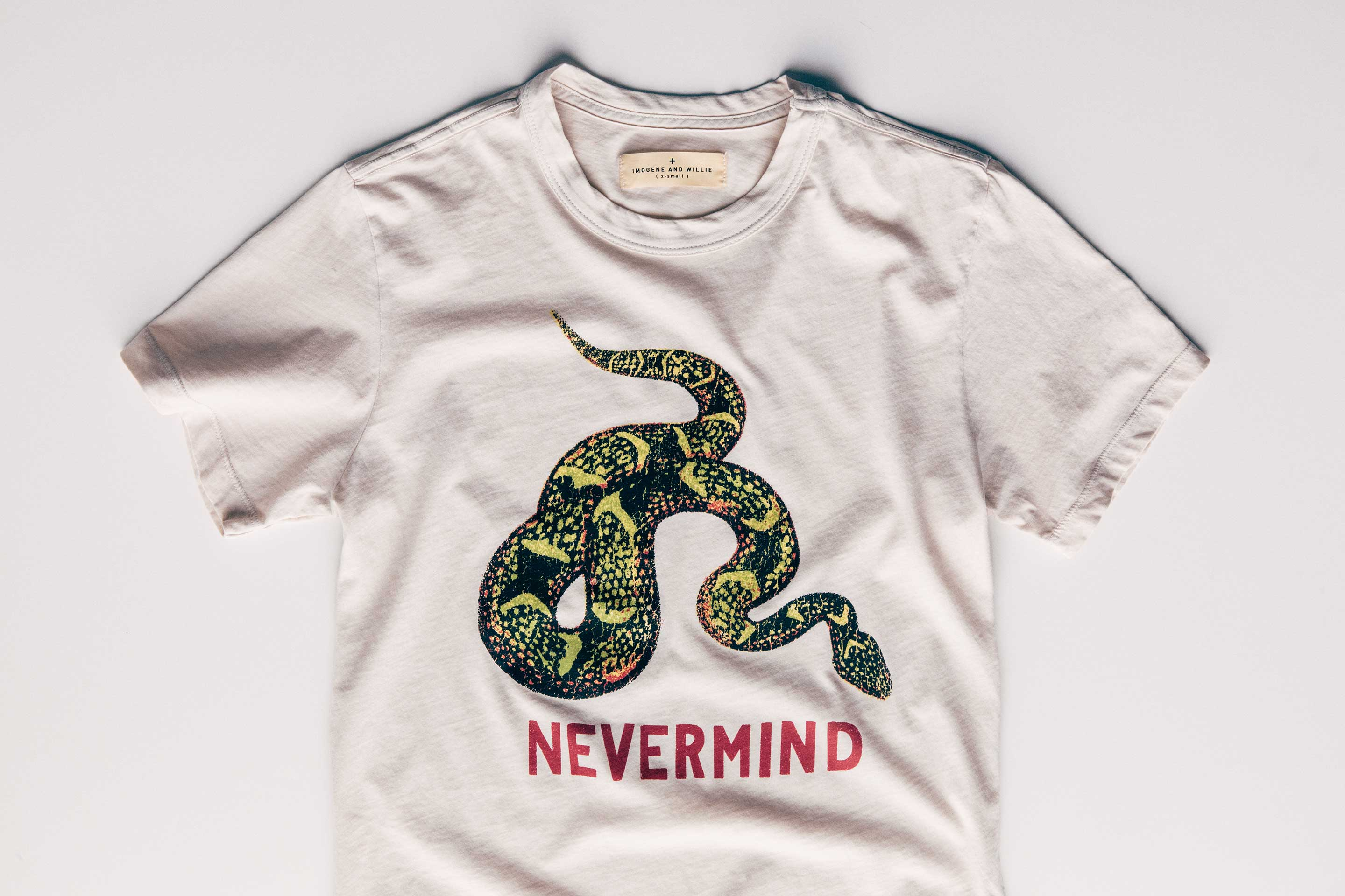 "imogene + willie - the ""nevermind"" tee"