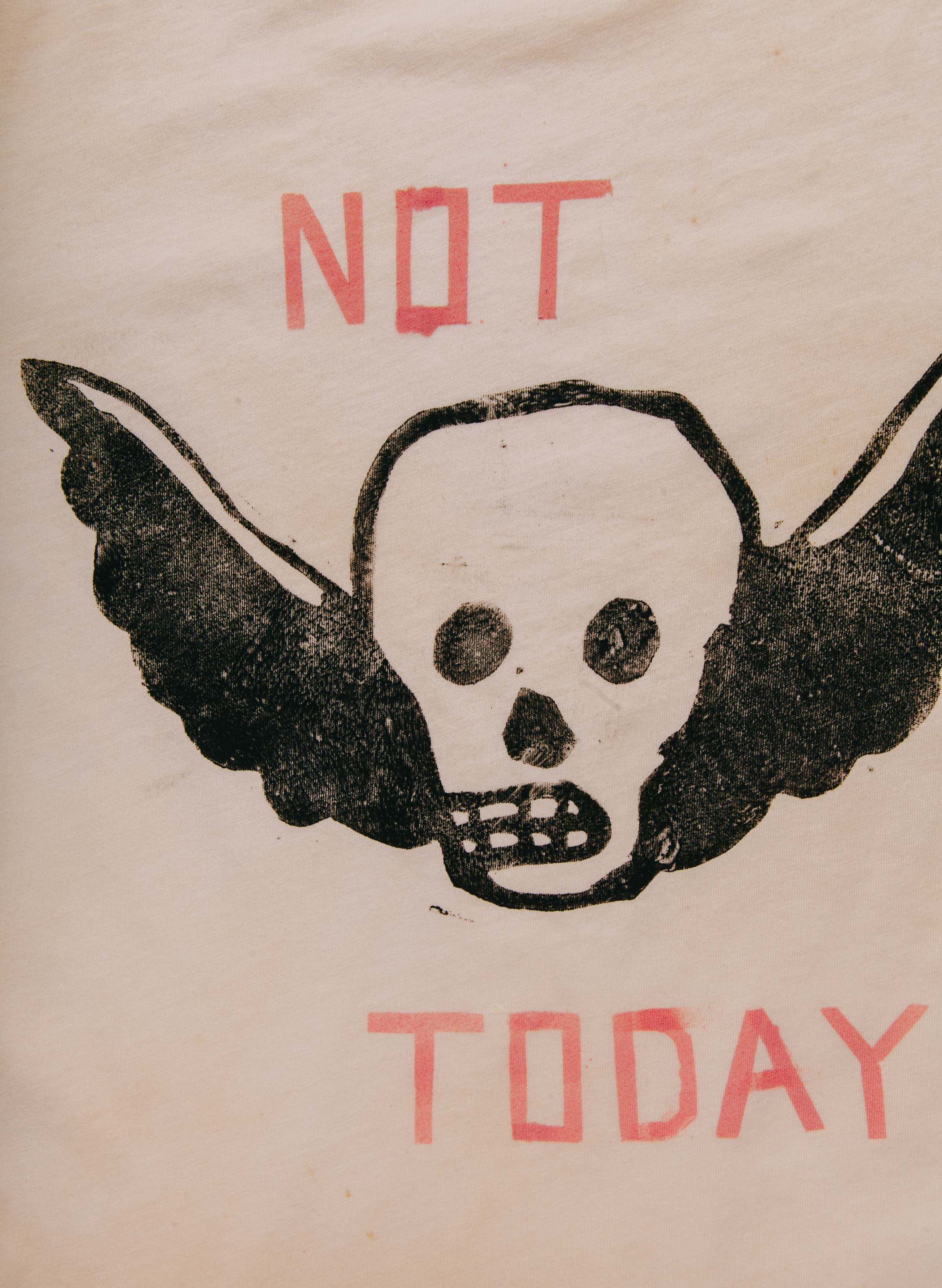 "imogene + willie - handpainted ""not today"" tee"