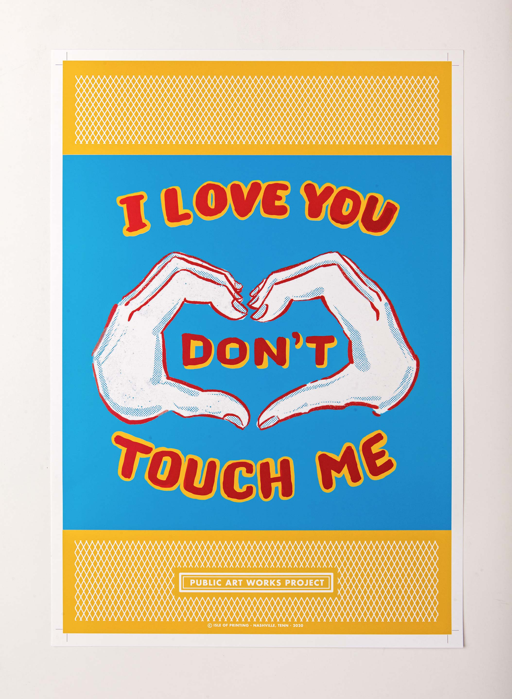 "imogene + willie - ""i love you"" offset print"