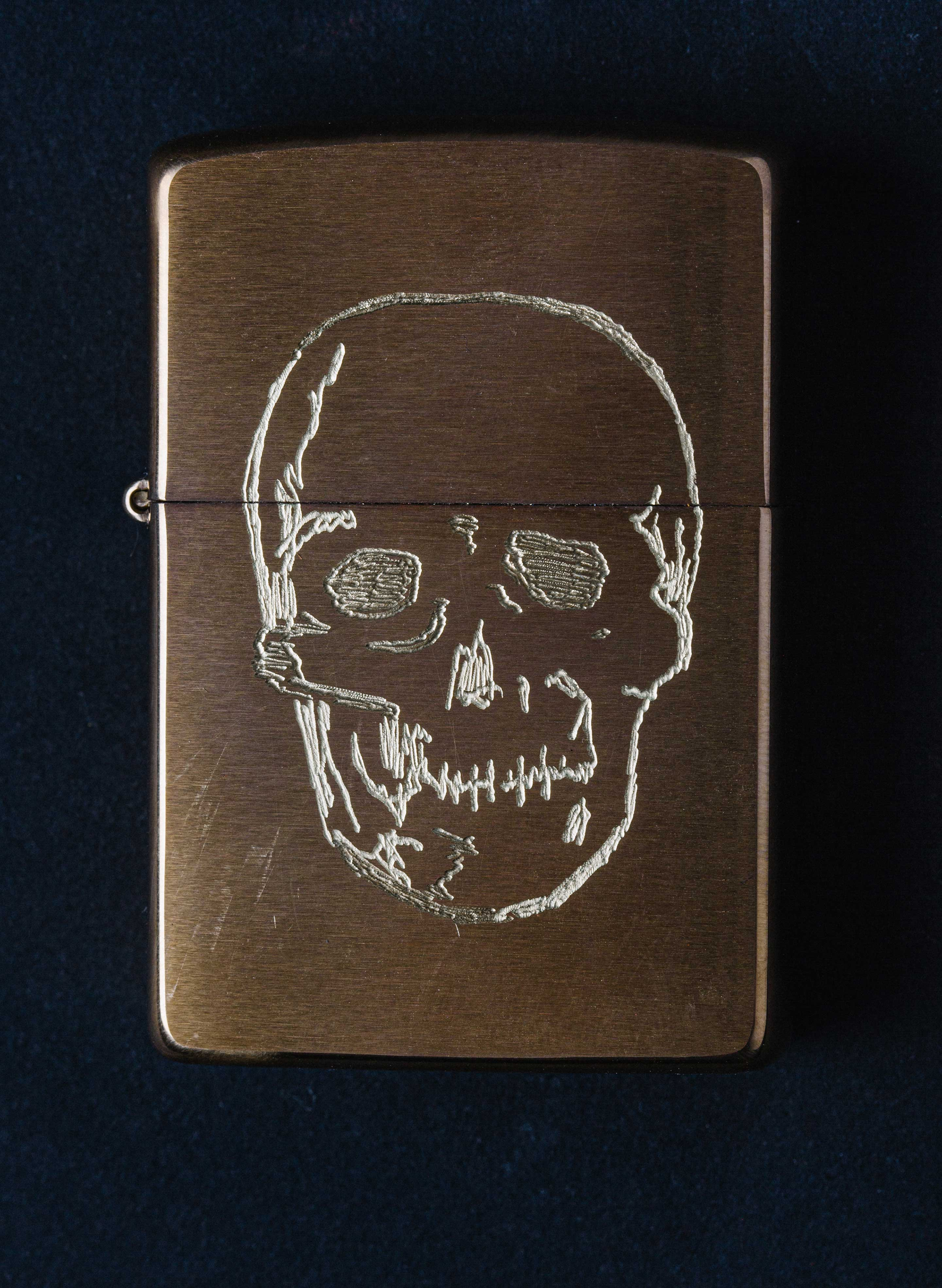 "imogene + willie - engraved ""not today"" zippo"