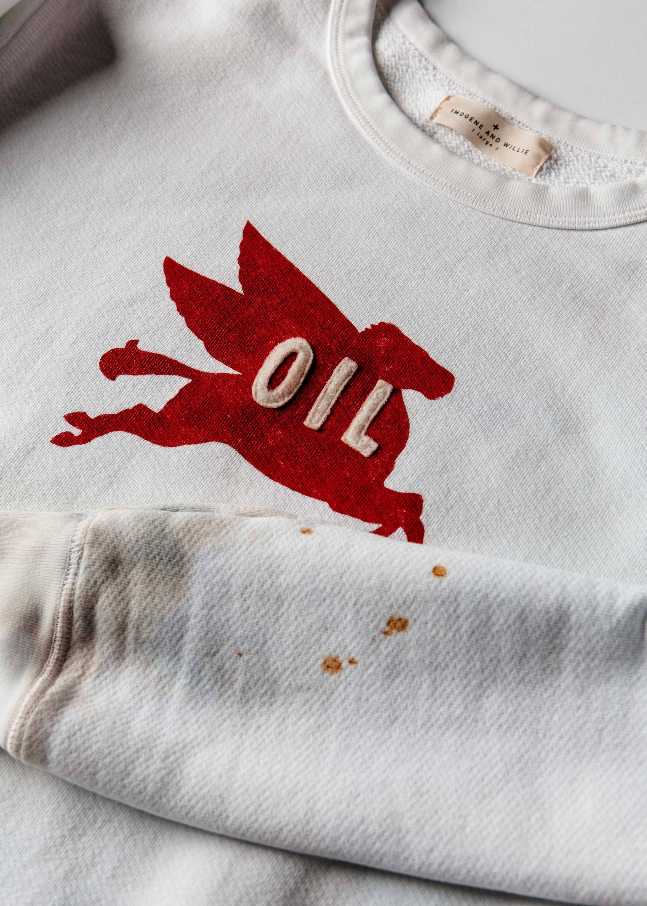"imogene + willie - made to order stitched ""pegasus"" sweatshirt"