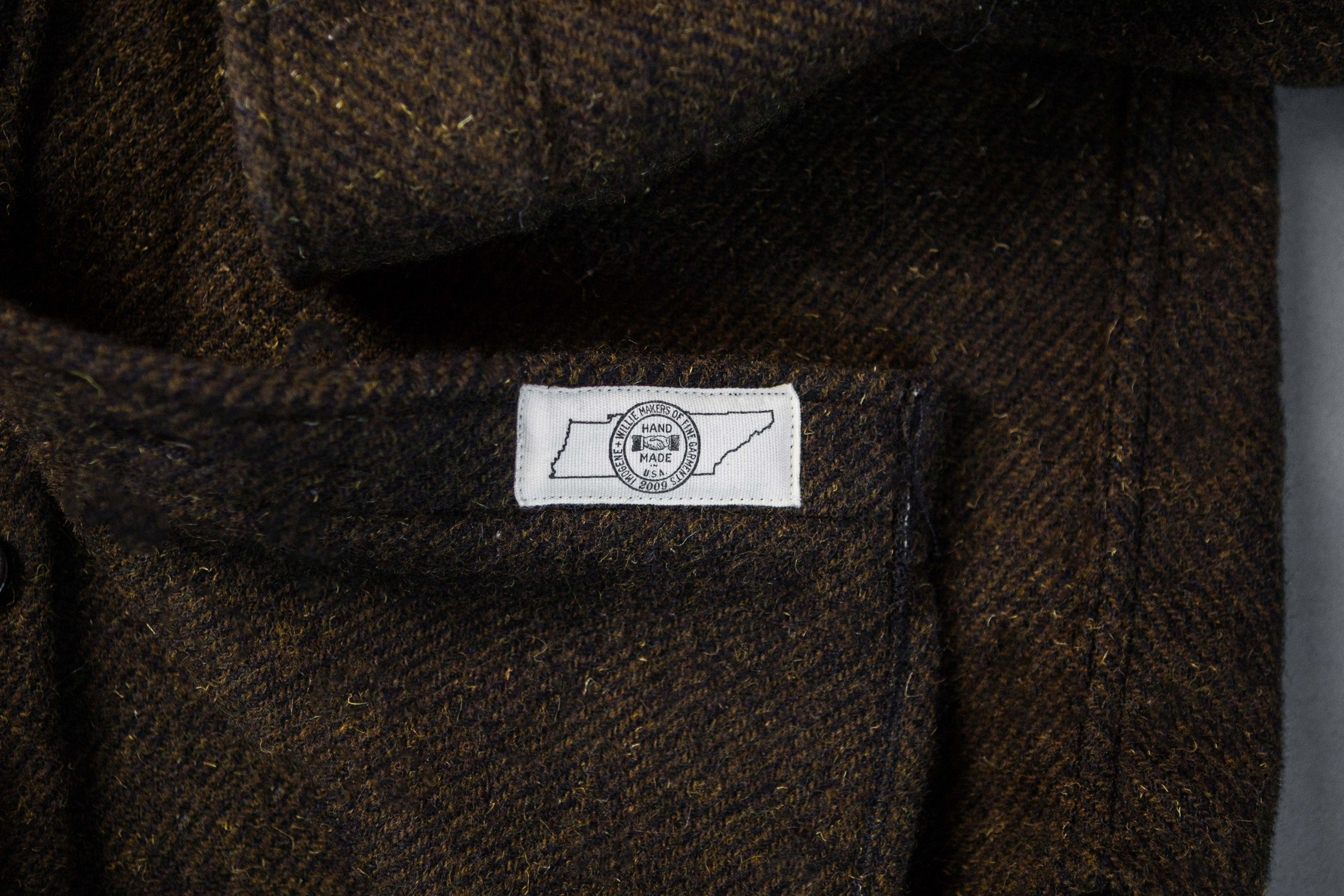 imogene + willie - hall cpo shirt in olive tweed