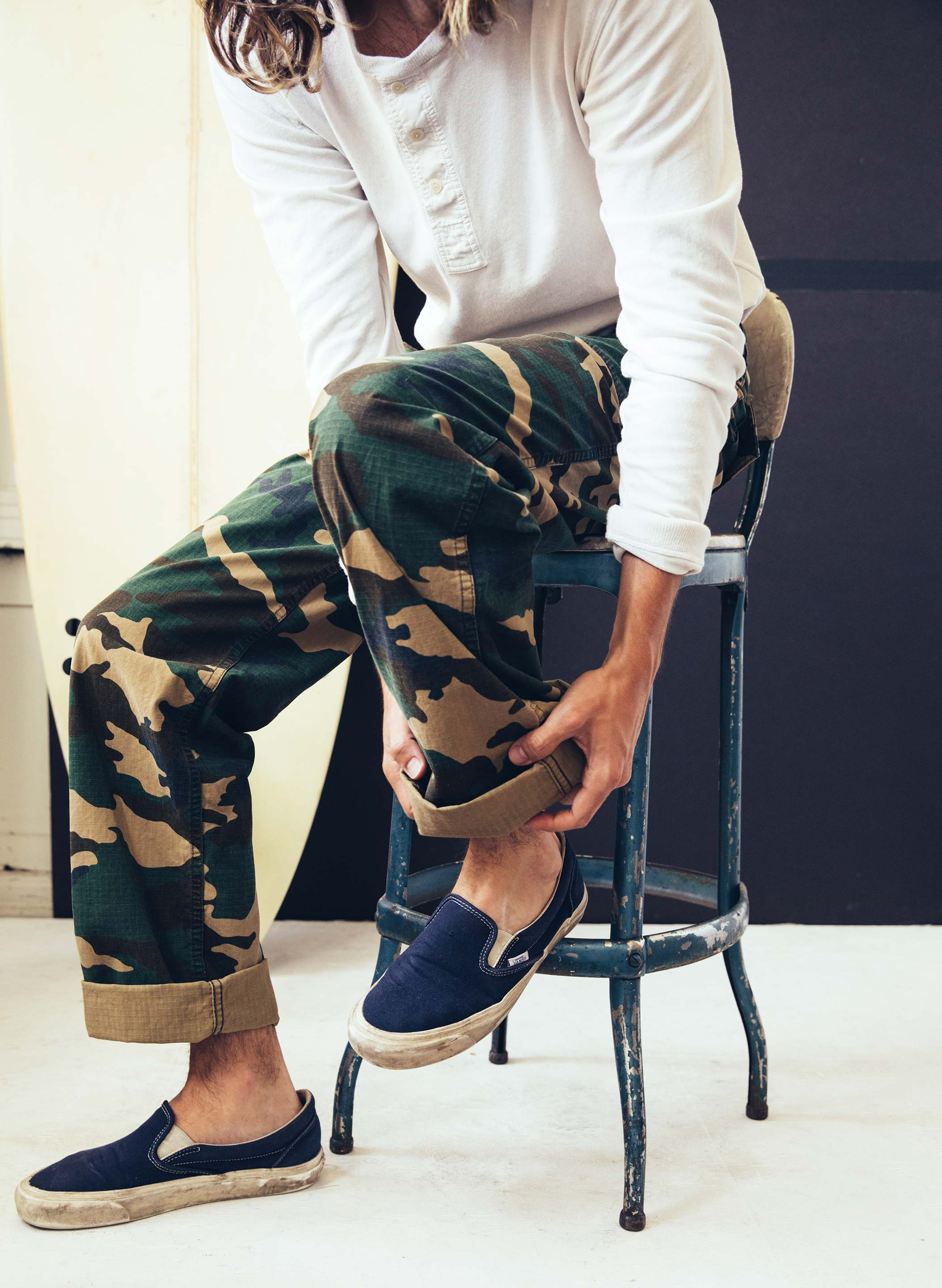 imogene + willie - camo oliver trouser