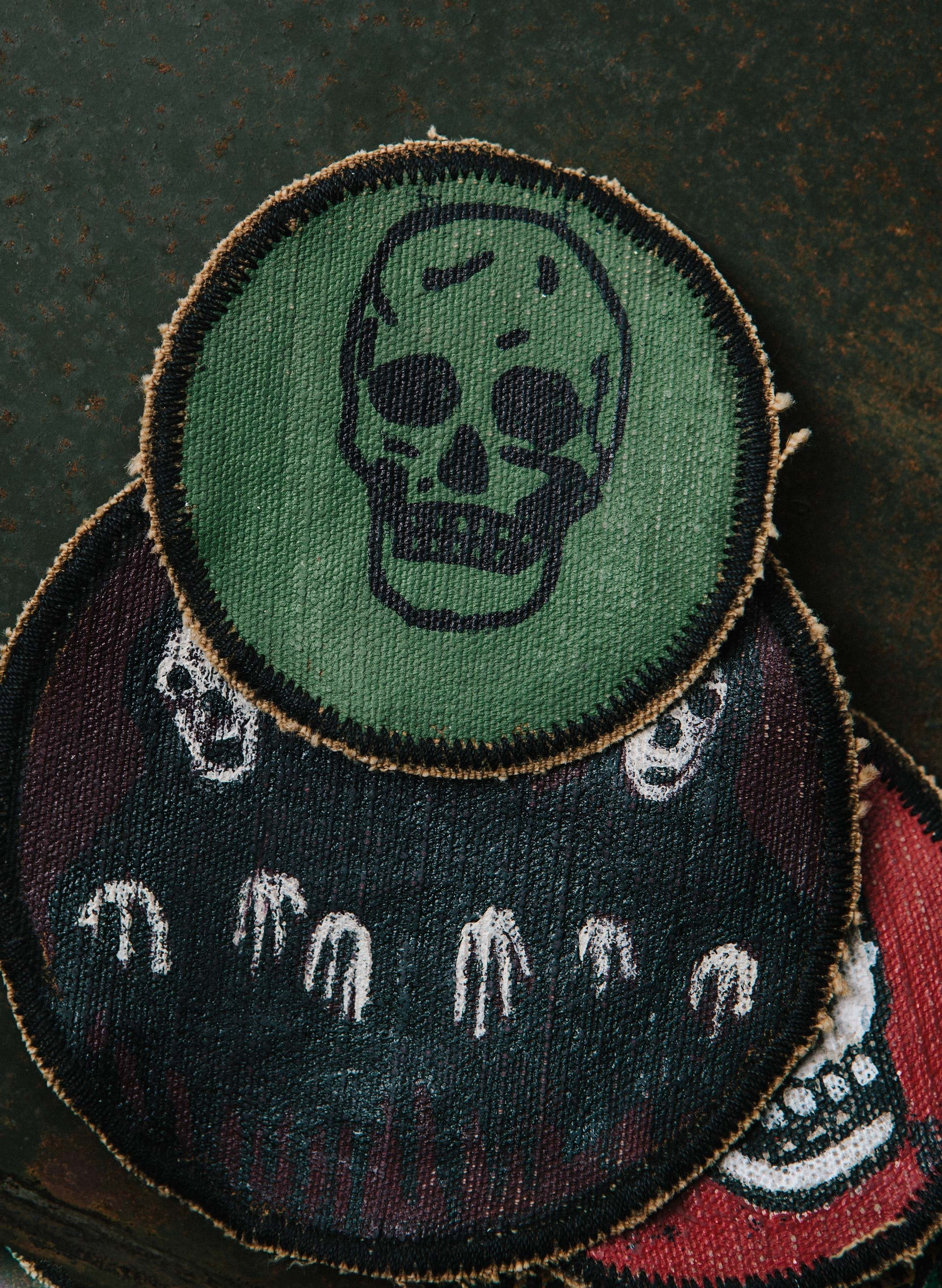 "imogene + willie - painted ""rey de la muerte"" patch"