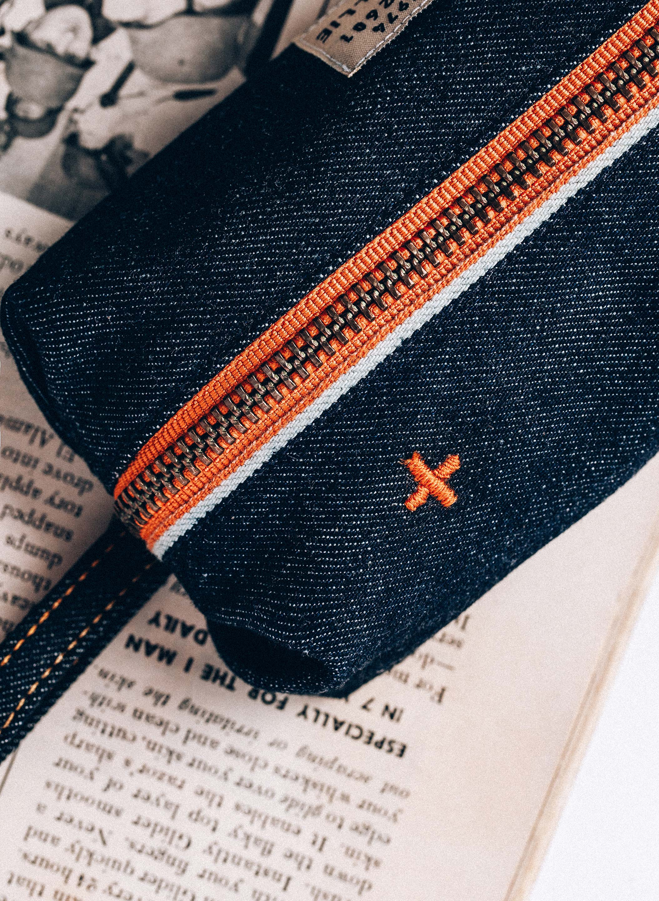 imogene + willie - the i+w selvage pencil bag