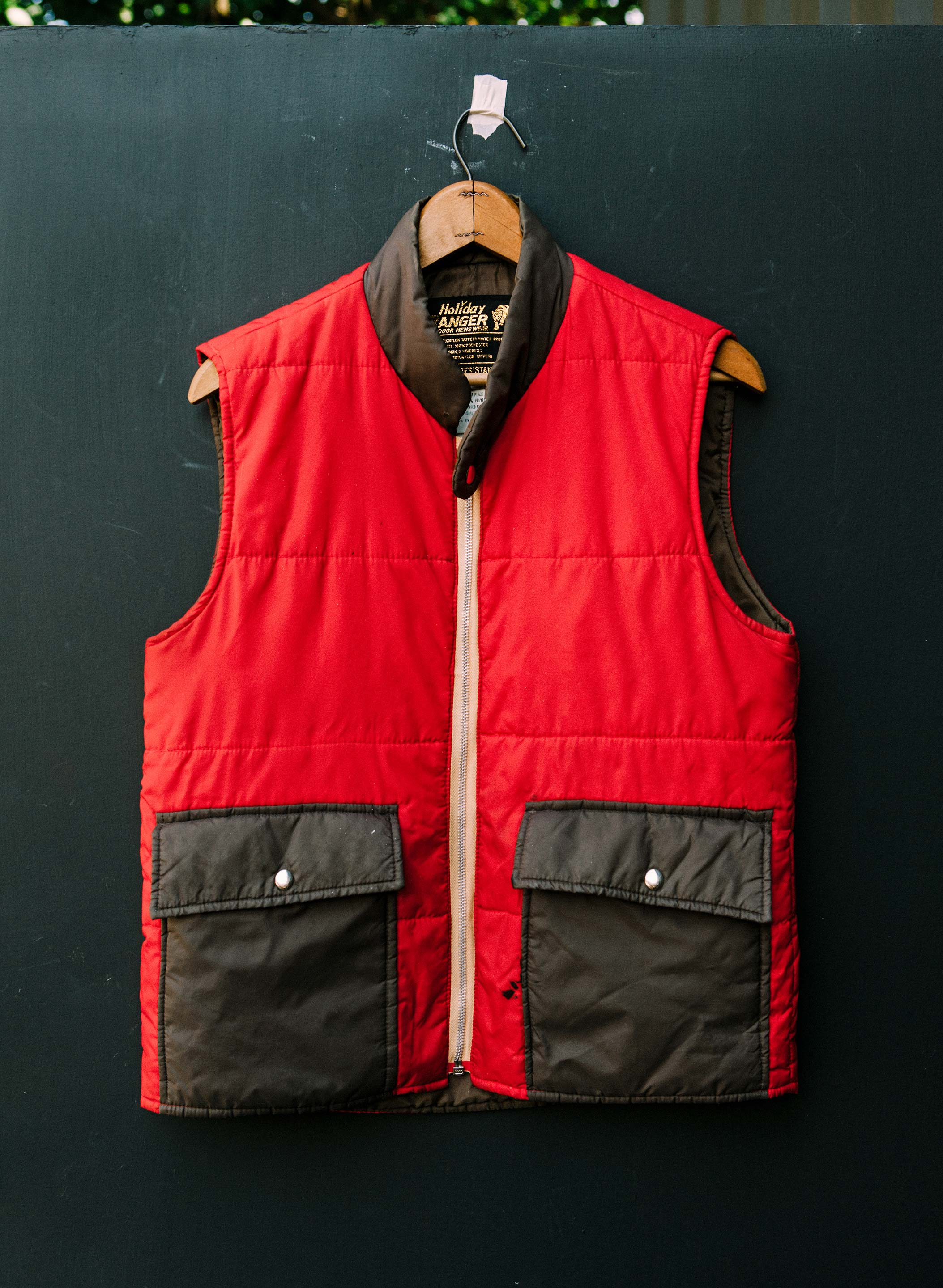 "imogene + willie - vintage ""holiday ranger"" down vest"
