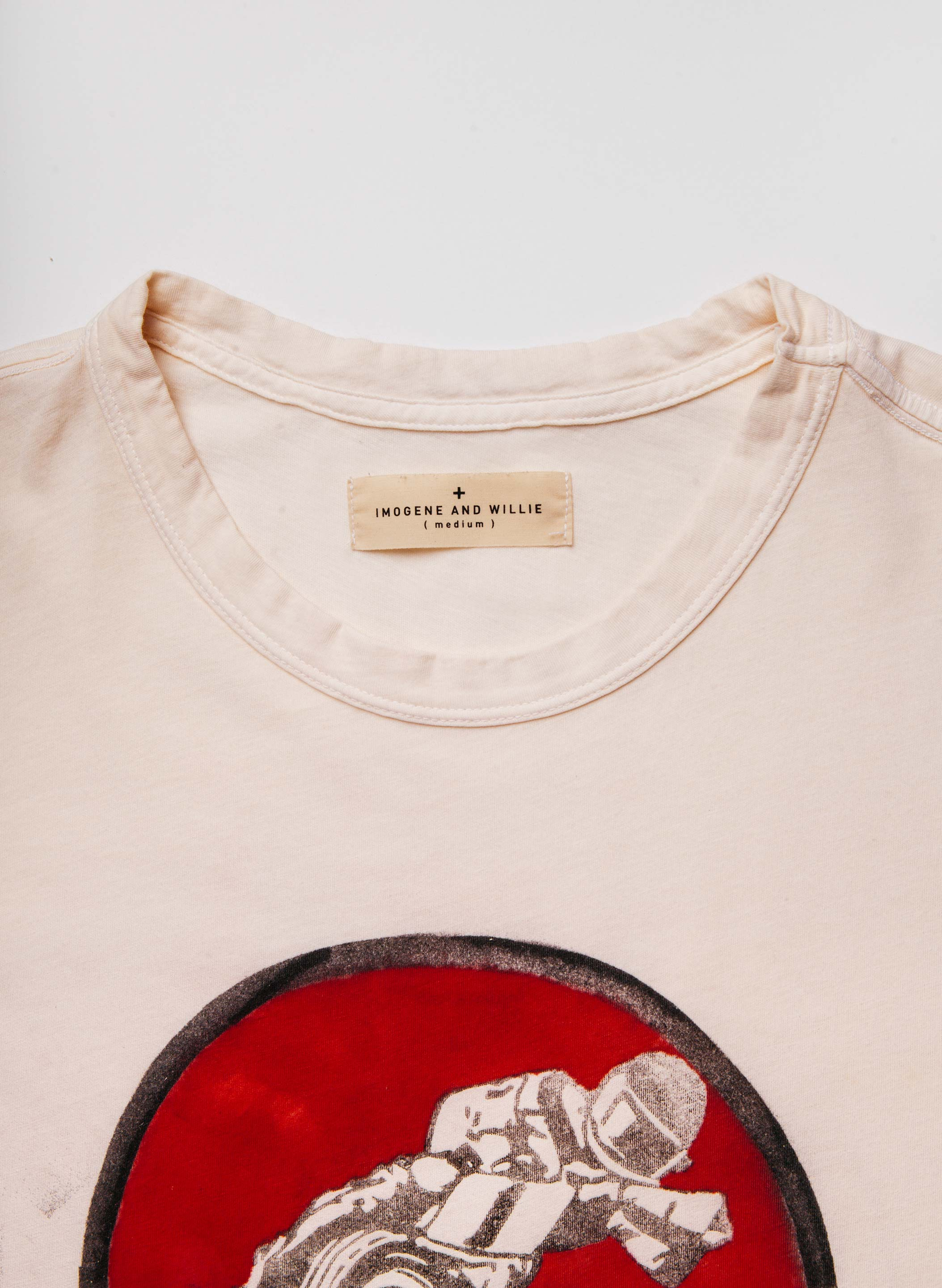 "imogene + willie - handpainted ""campbell speedway"" tee"