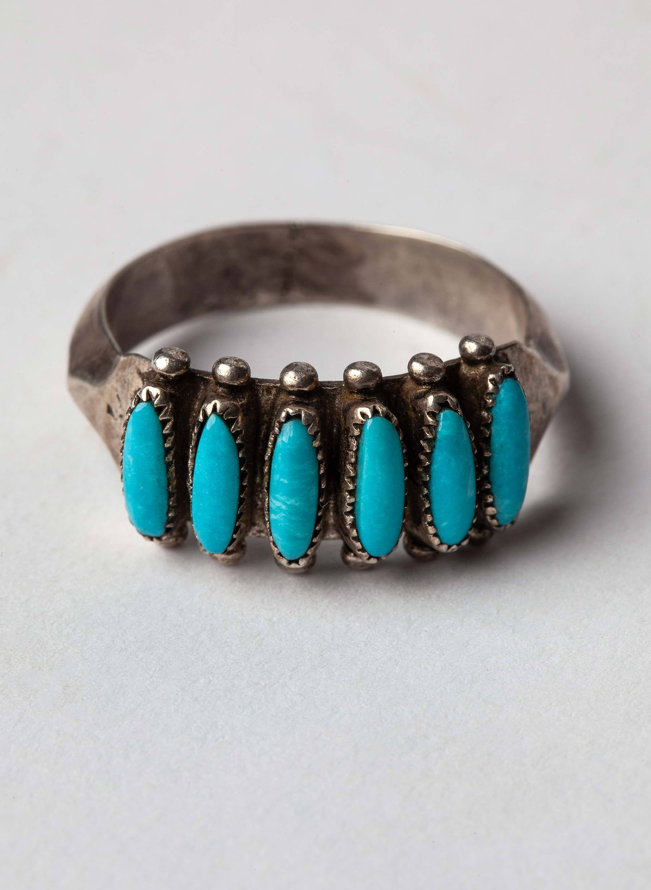 "imogene + willie - vintage ""cochiti"" zuni ring"