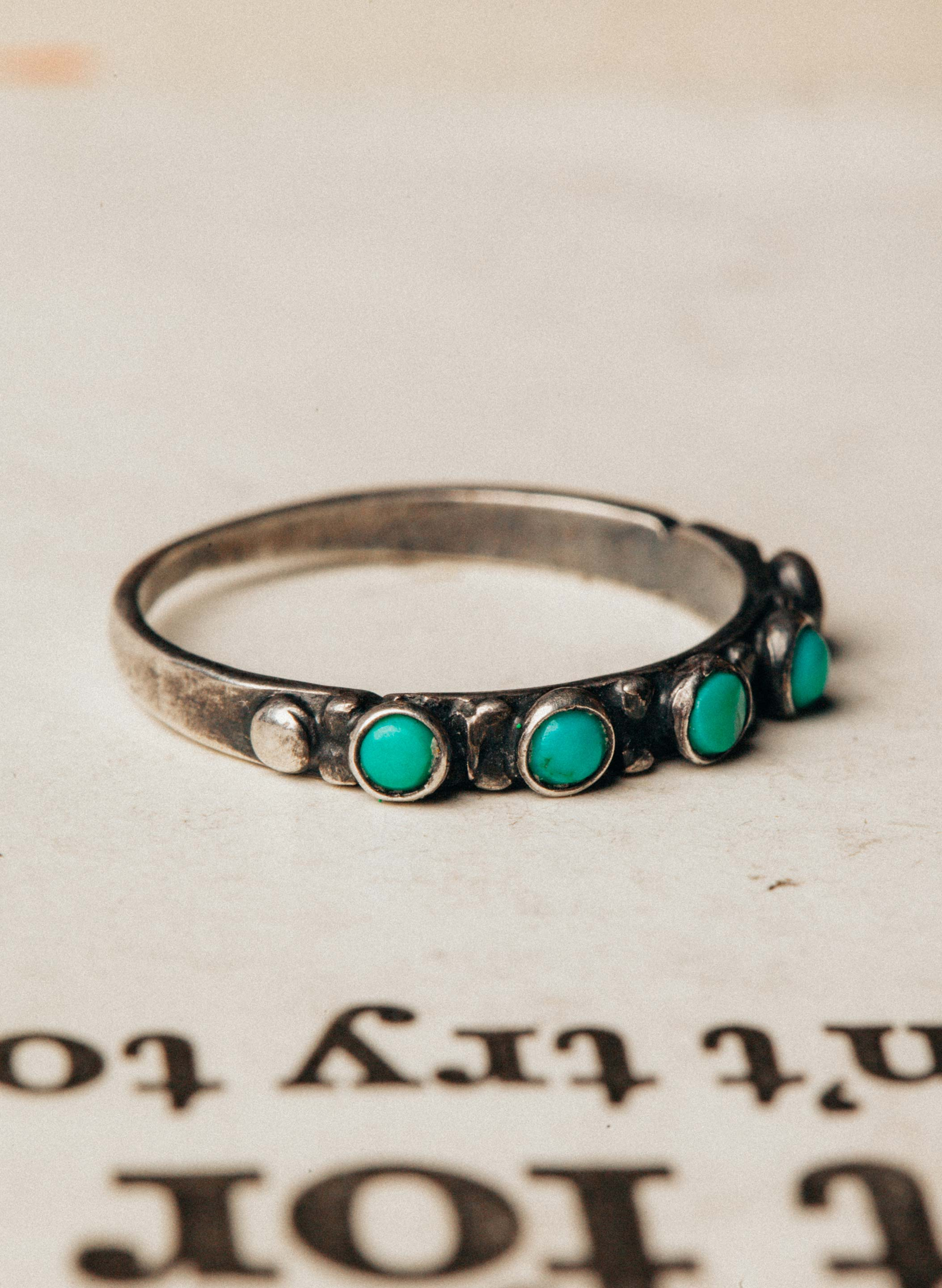 "imogene + willie - vintage ""uwaku"" zuni ring"