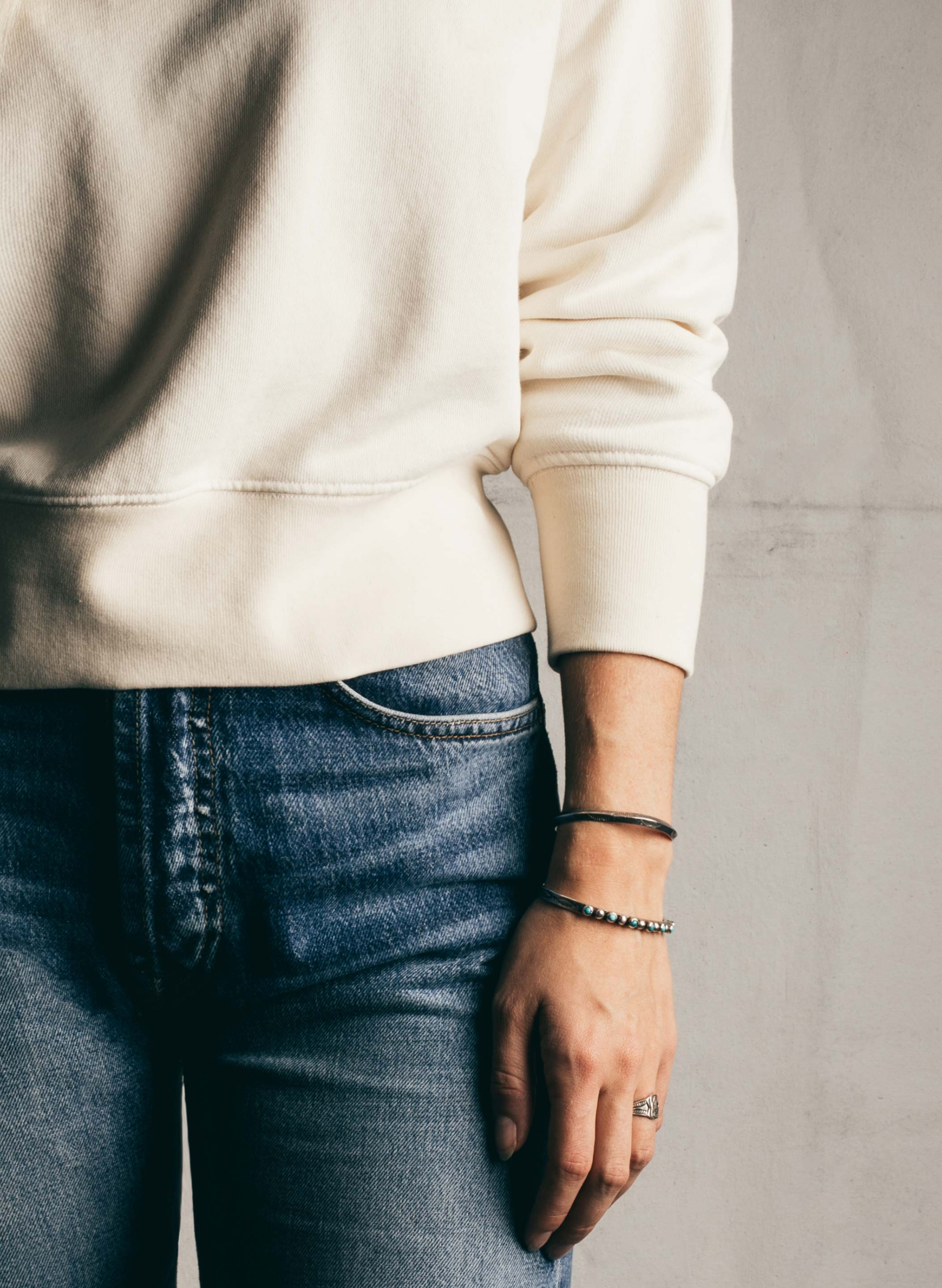 imogene + willie - lina sweatshirt in natural