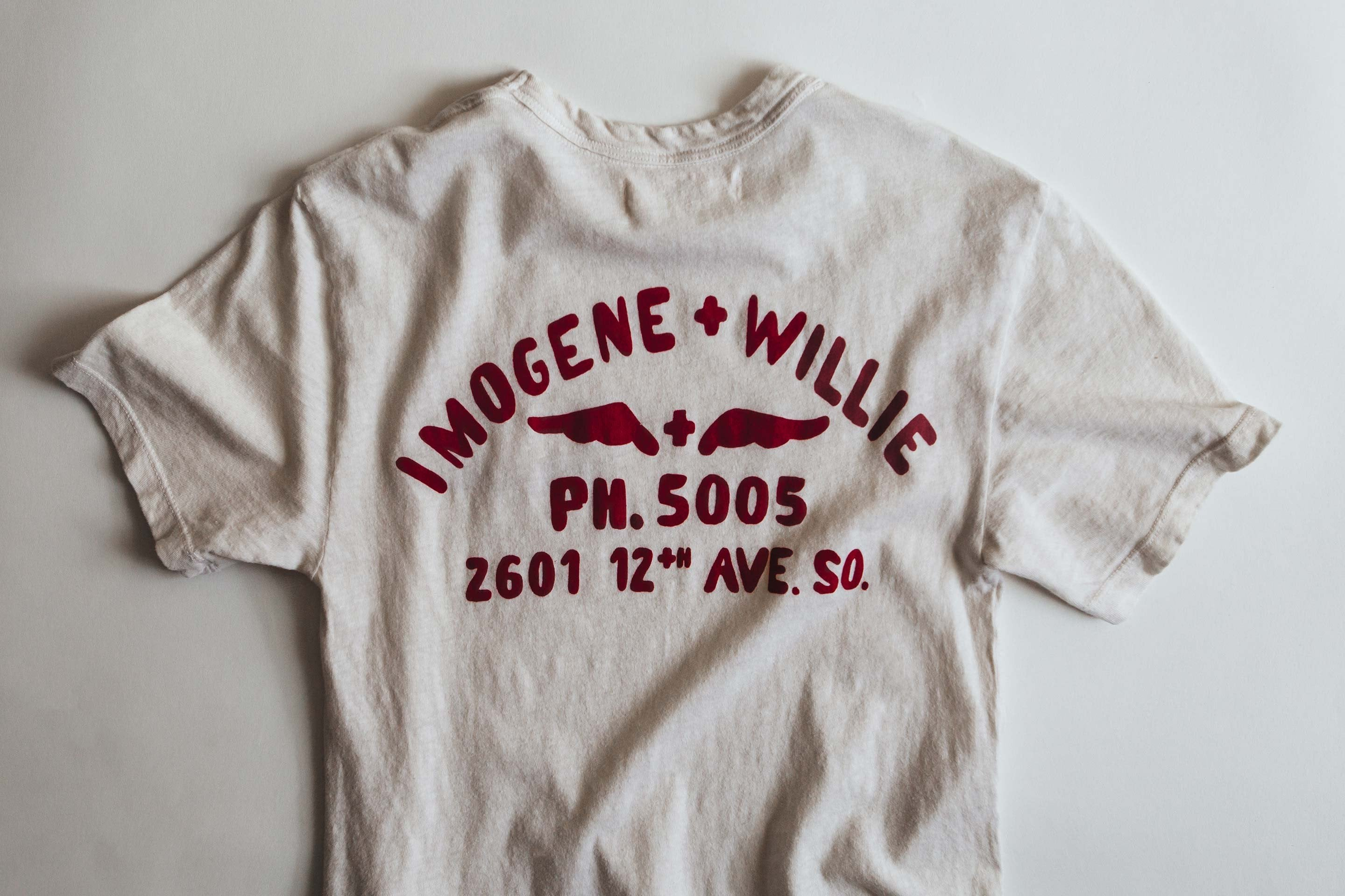 imogene + willie - the shop tee vintage white