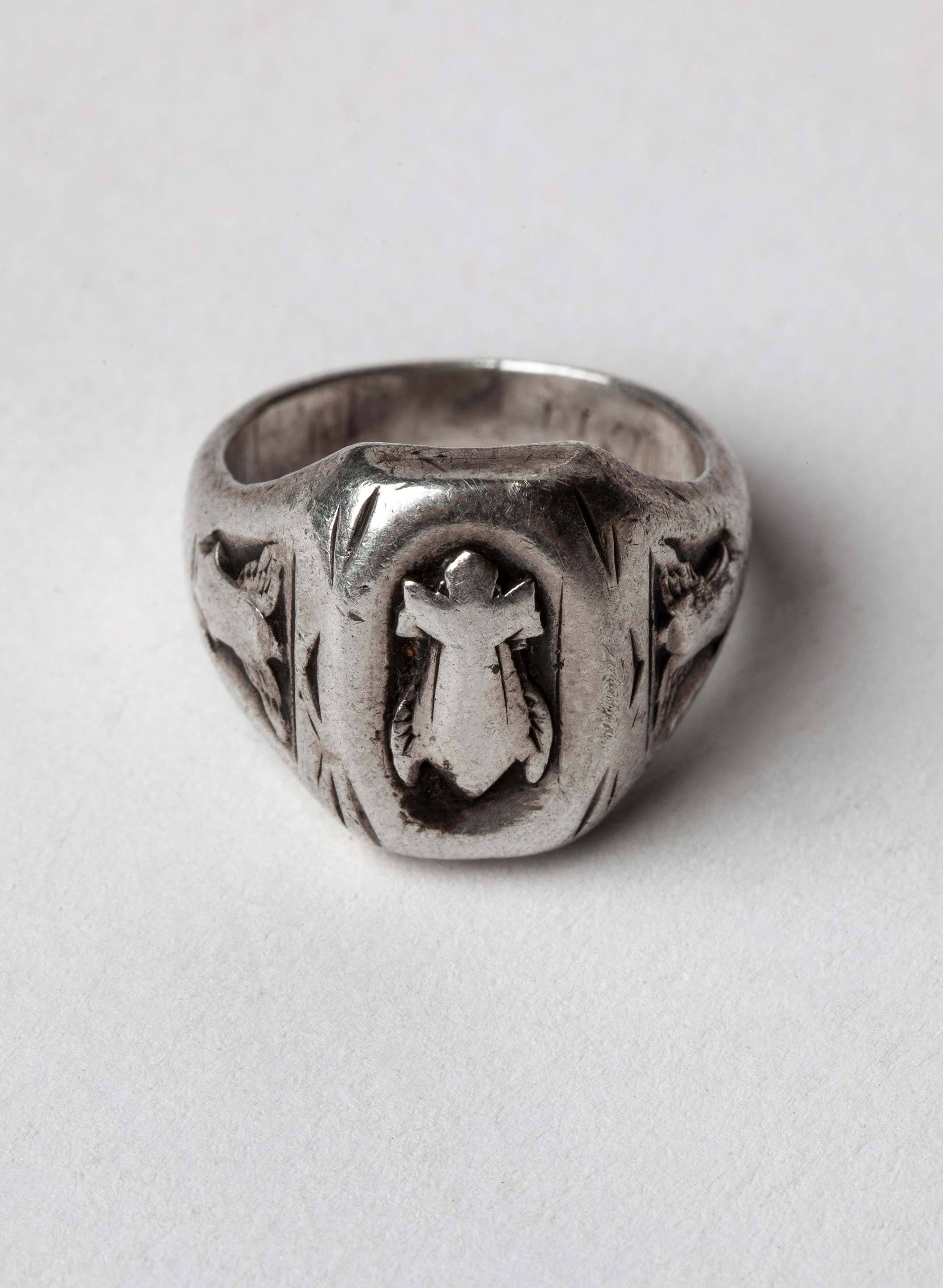 "imogene + willie - vintage ""sworn oath"" sterling ring"
