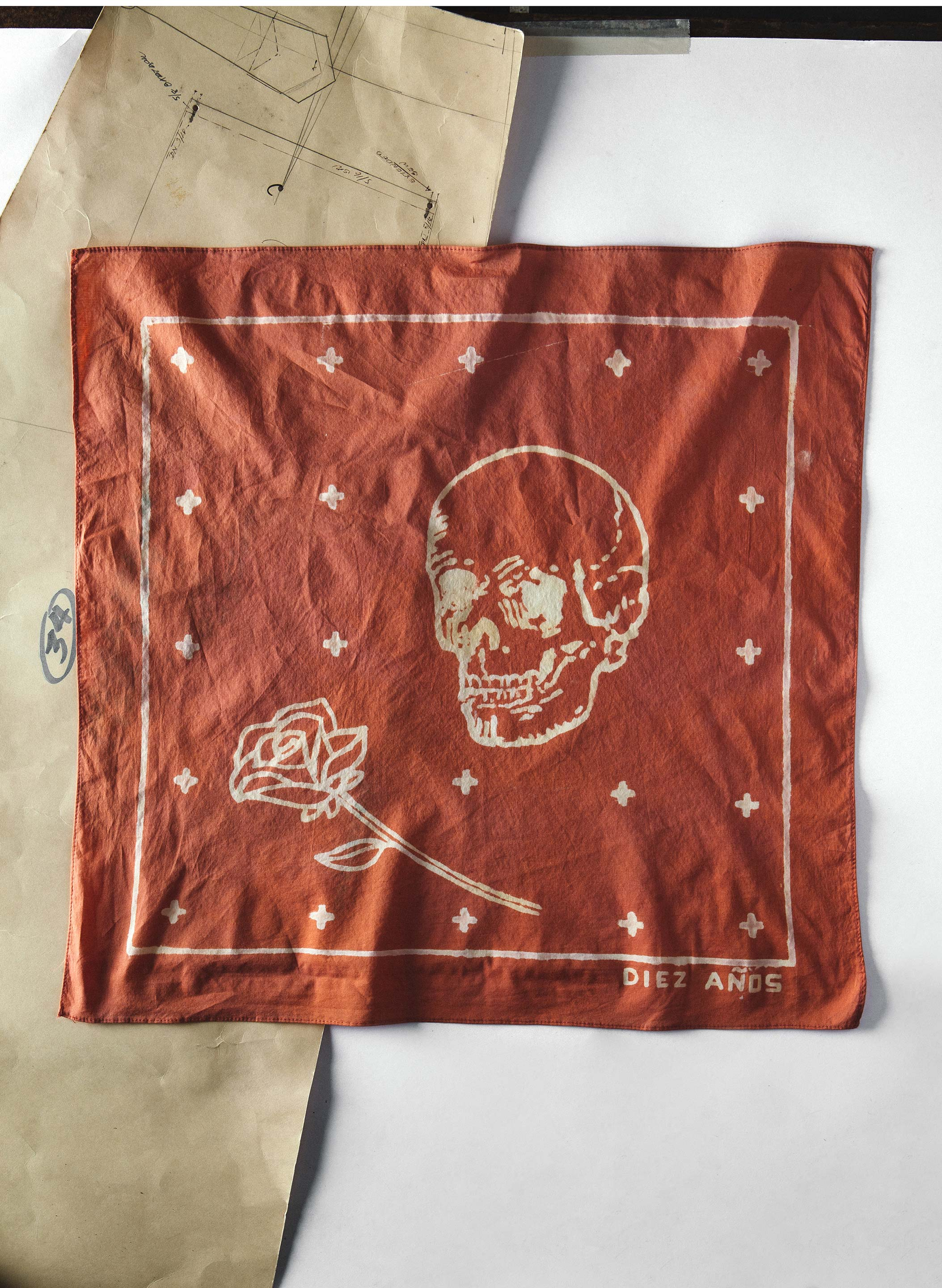 "imogene + willie - handpainted ""romance in durango"" bandana"