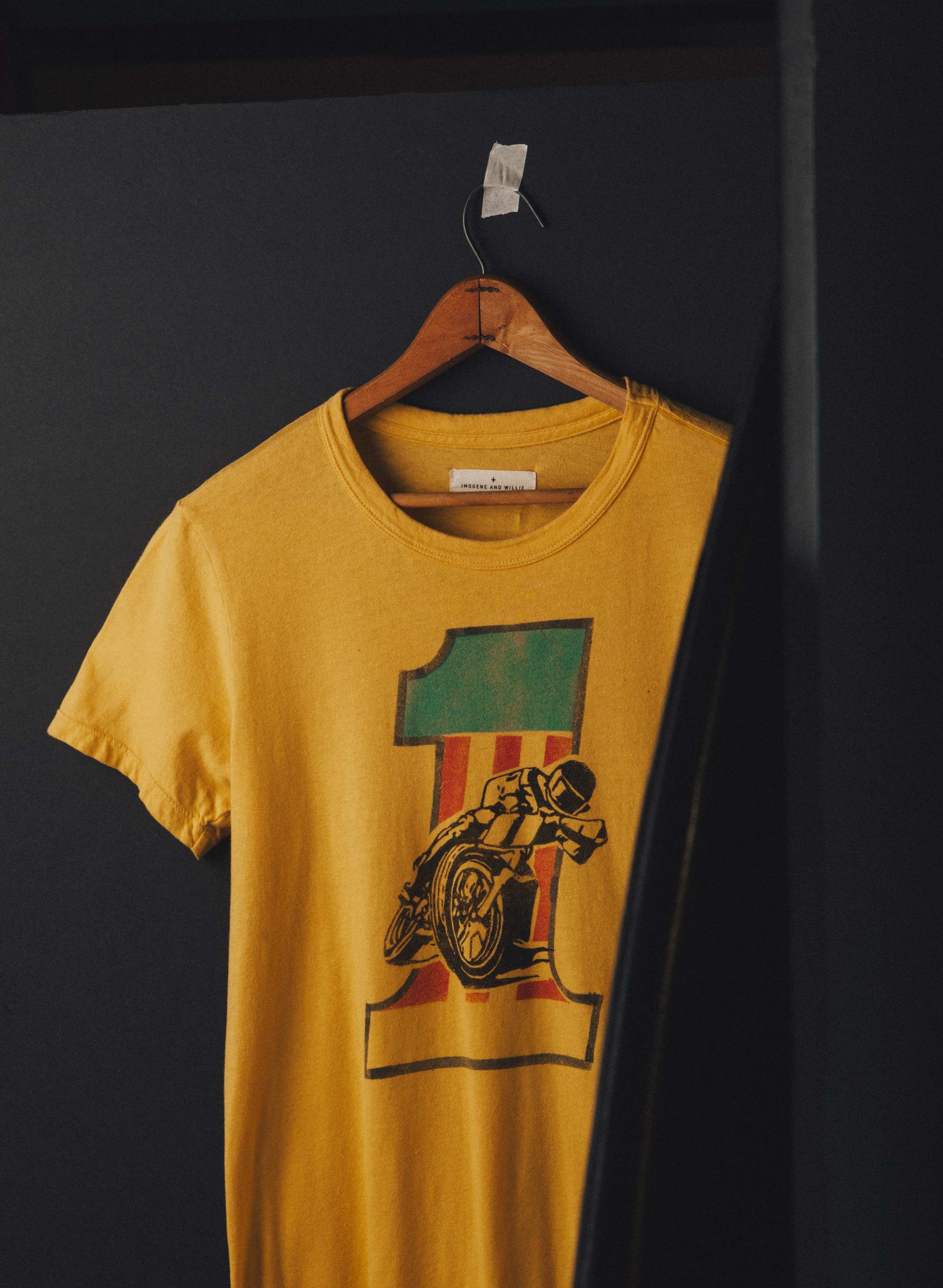 "imogene + willie - handpainted ""hardly driveable"" tee"