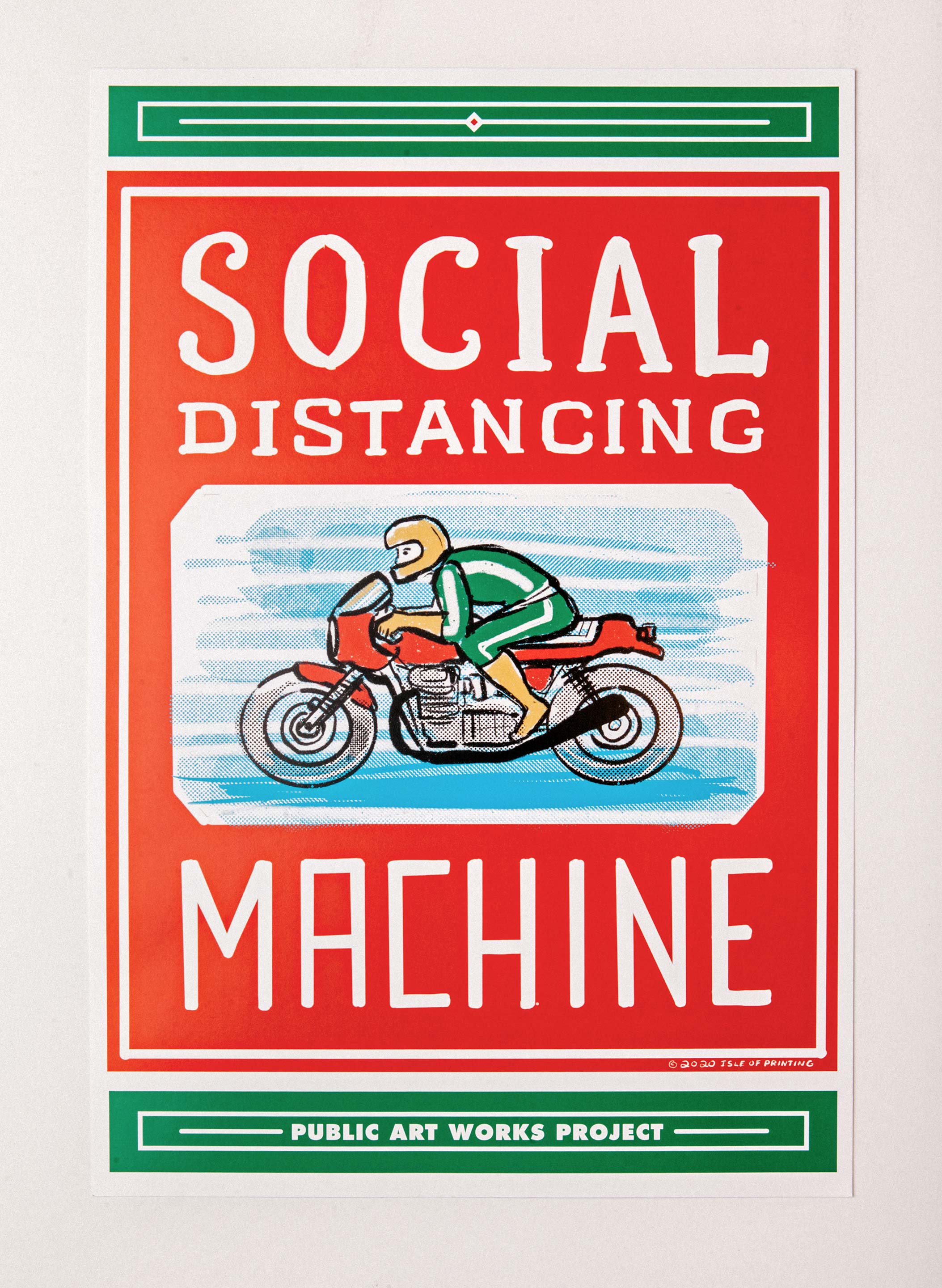 "imogene + willie - ""social distancing machine"" offset print"