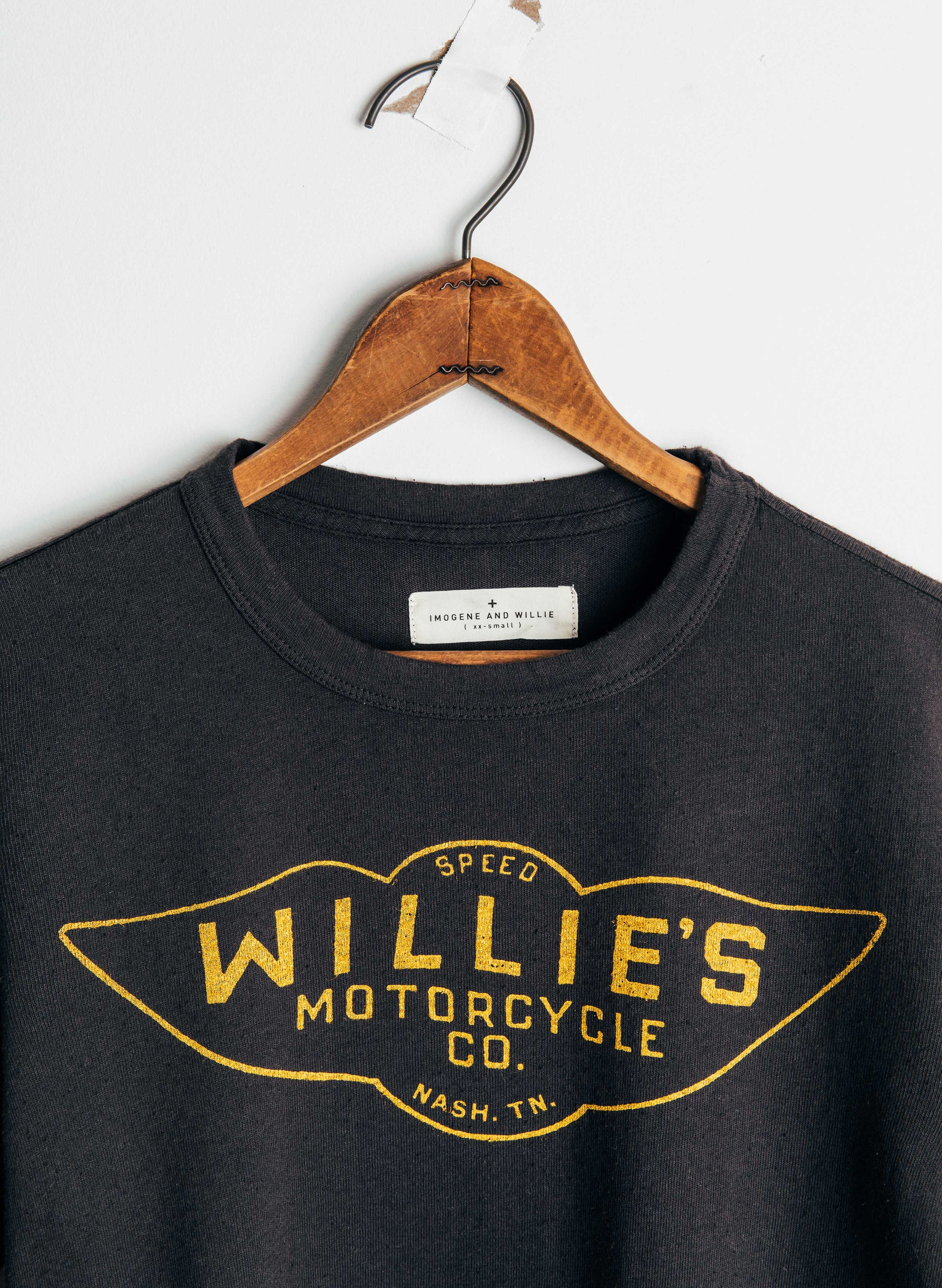 "imogene + willie - the ""speedshop"" long sleeve tee"