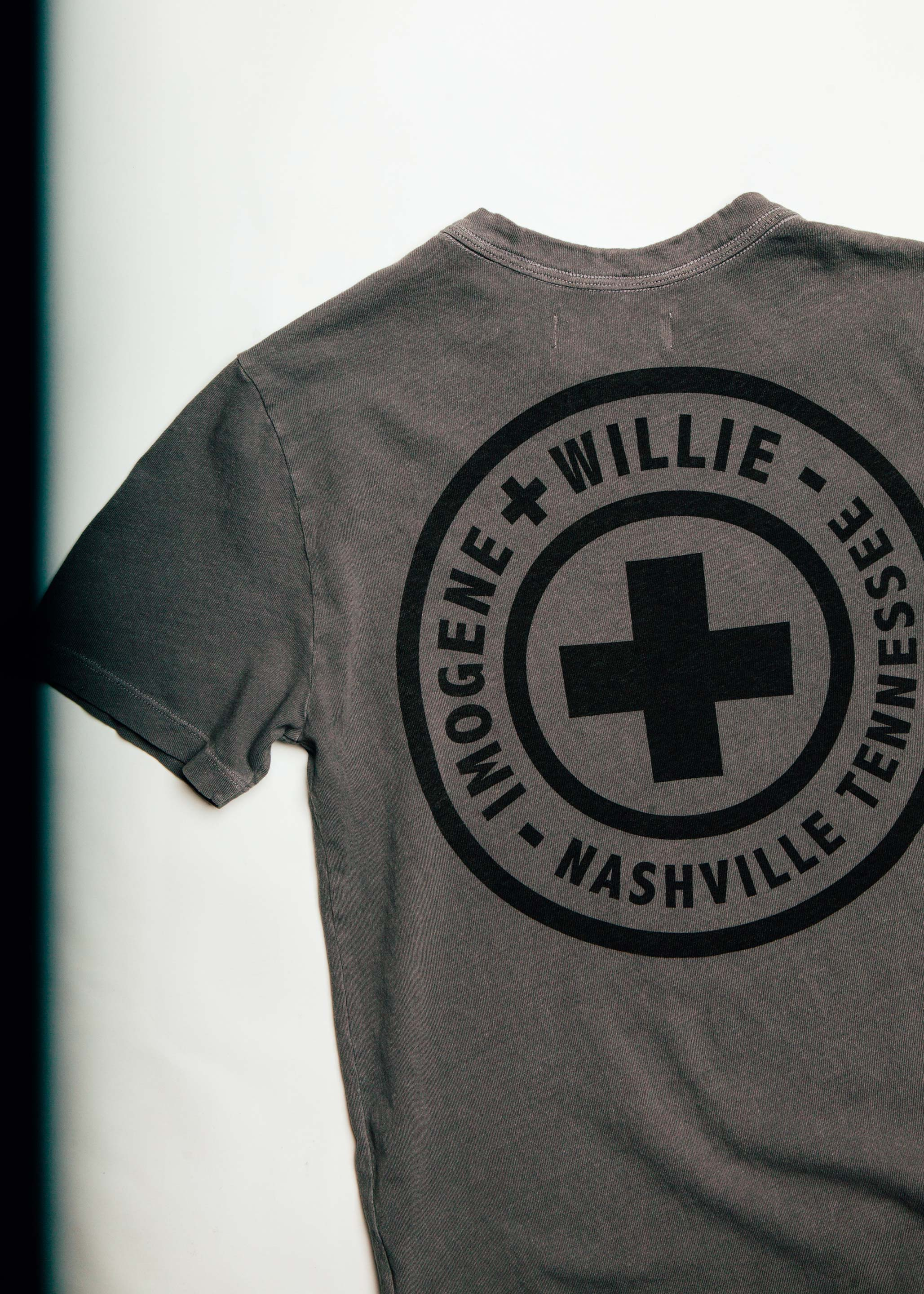 imogene + willie - the i+w stamp tee (faded gray)