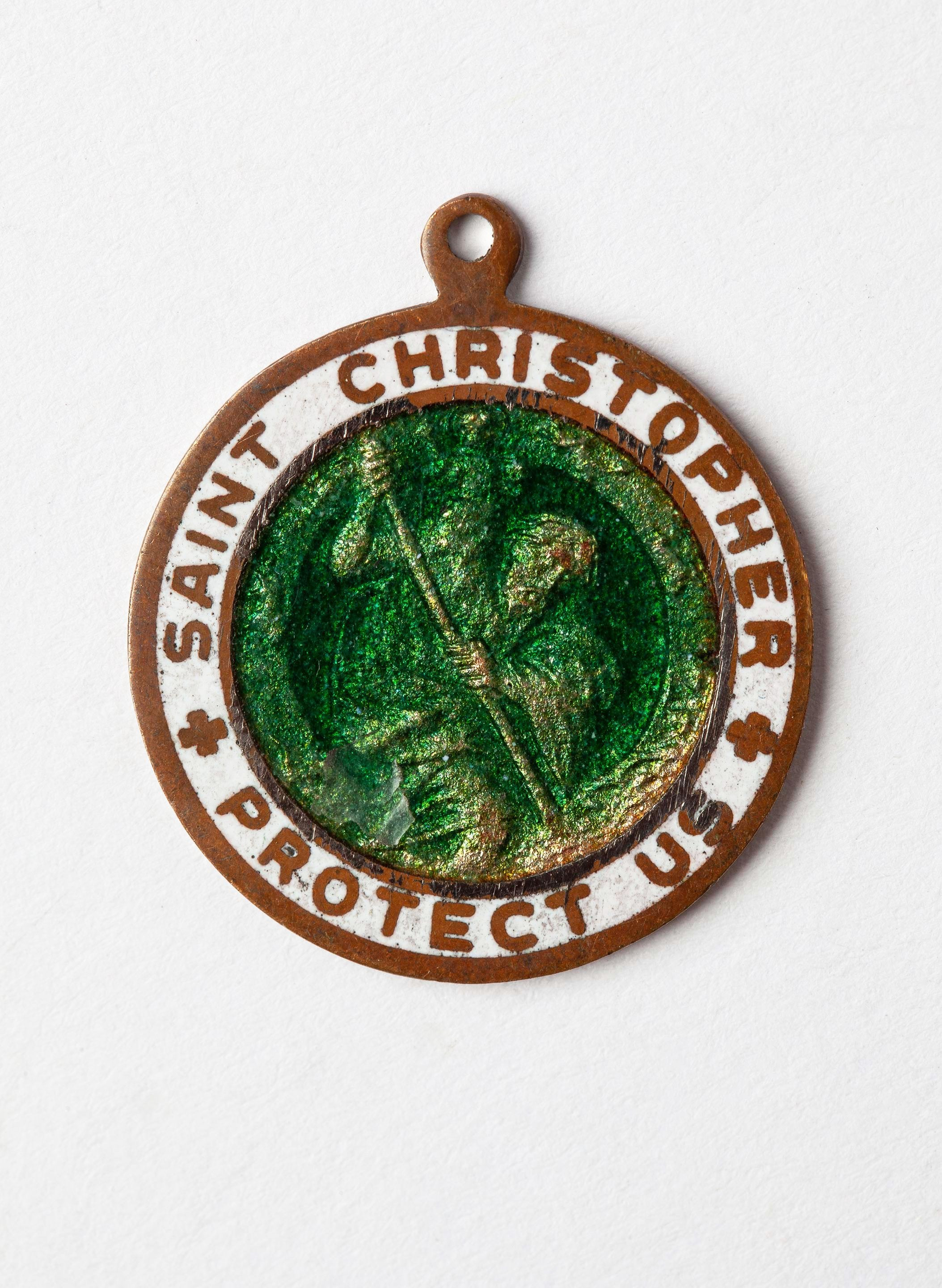 "imogene + willie - 1950s ""st. christopher"" medal pendant"