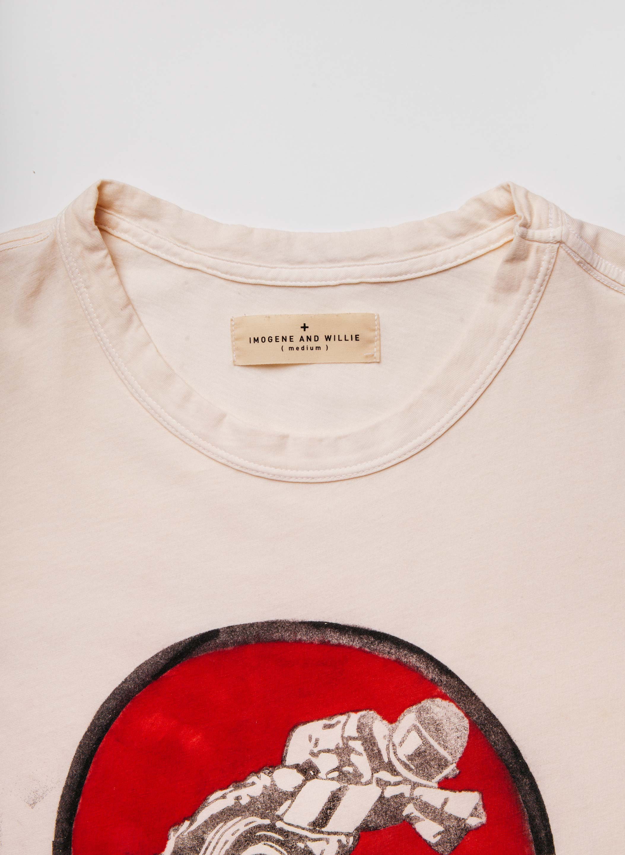 "imogene + willie - handpainted ""peabody classic"" tee"