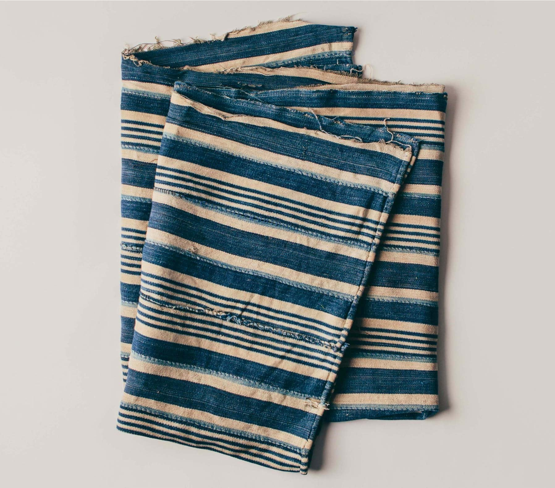 imogene + willie - vintage striped african indigo textile