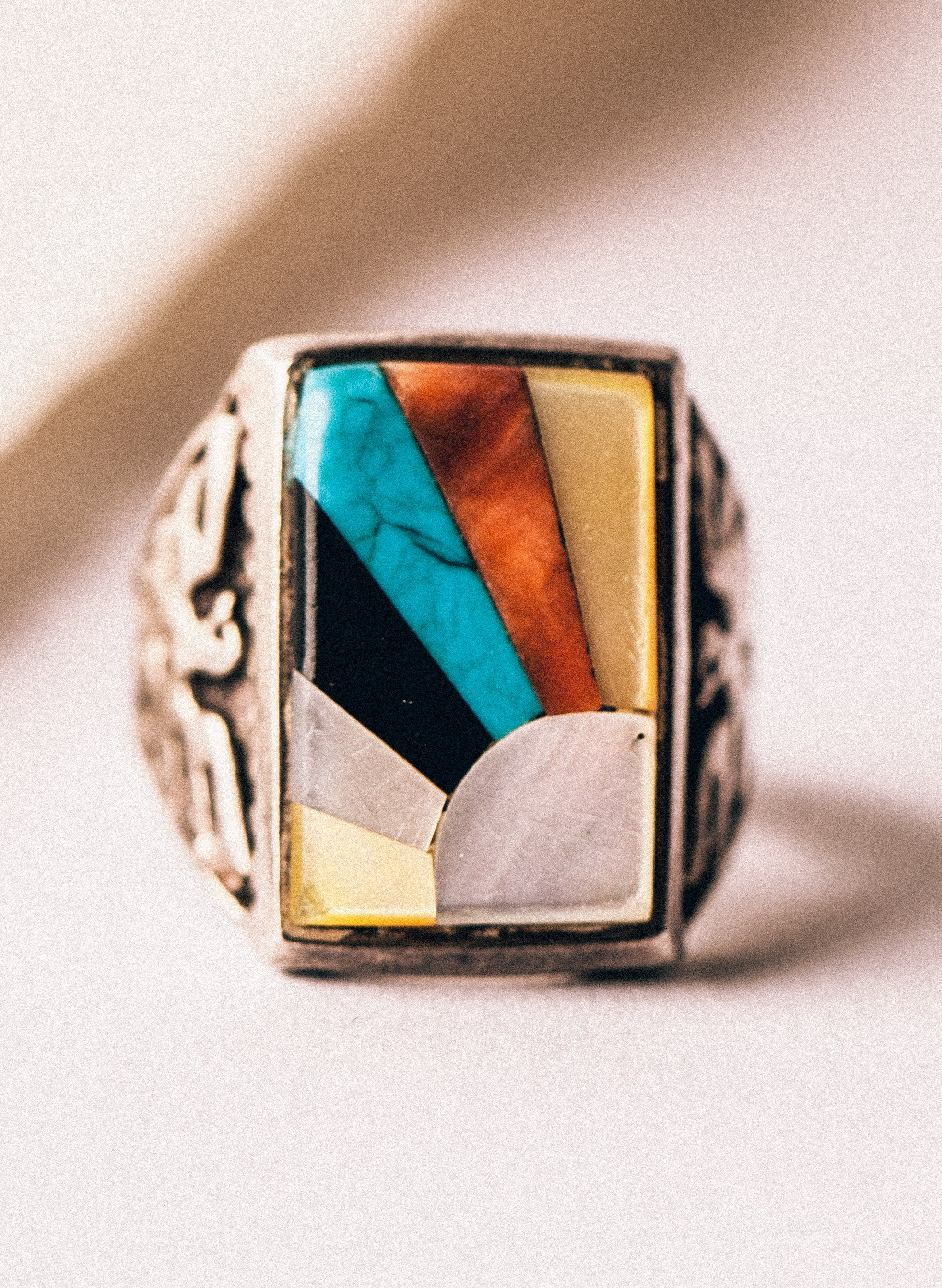 "imogene + willie - vintage sterling ""rising sun""  ring"