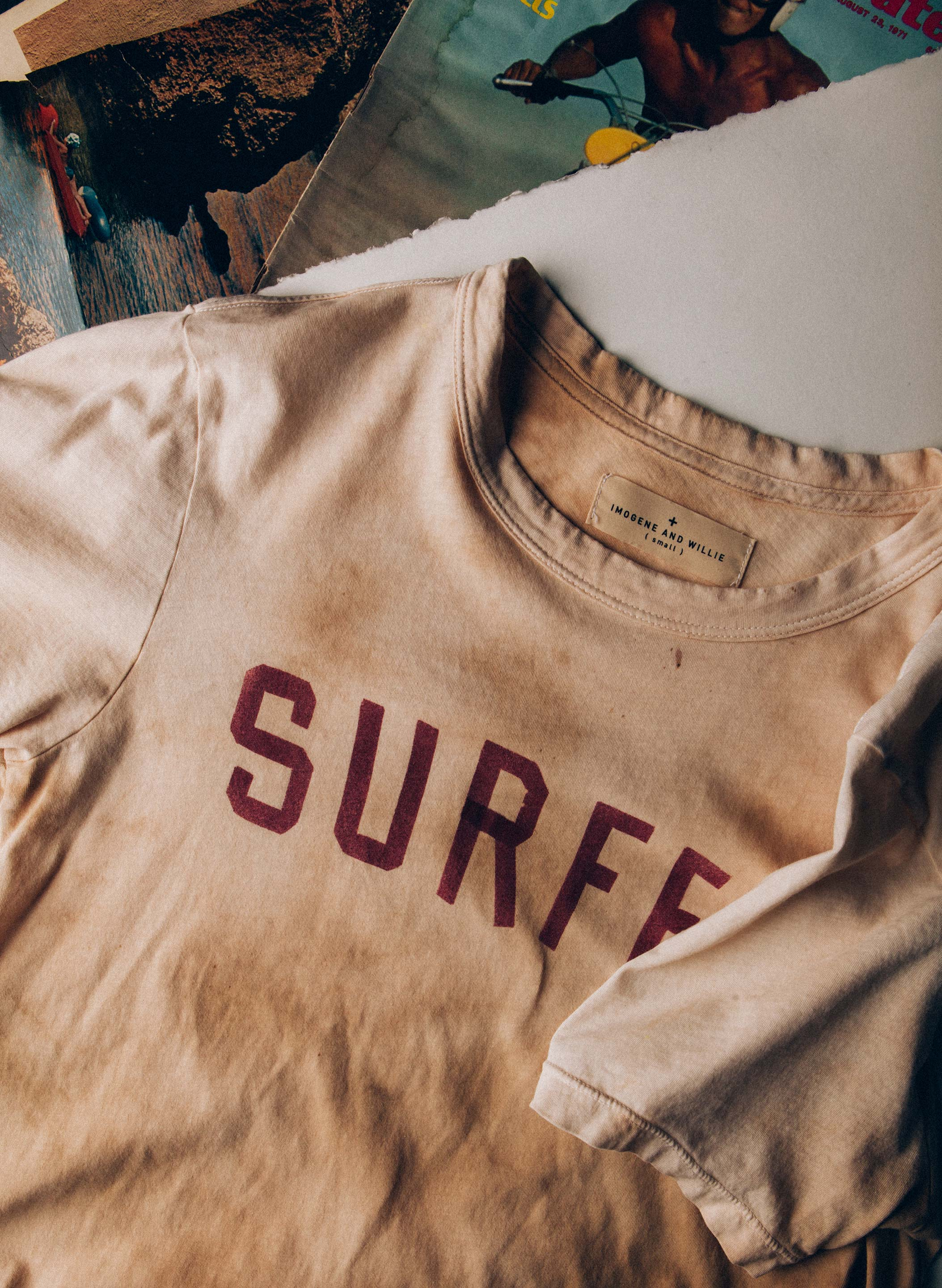 "imogene + willie - the handpainted ""surfer"" tee"