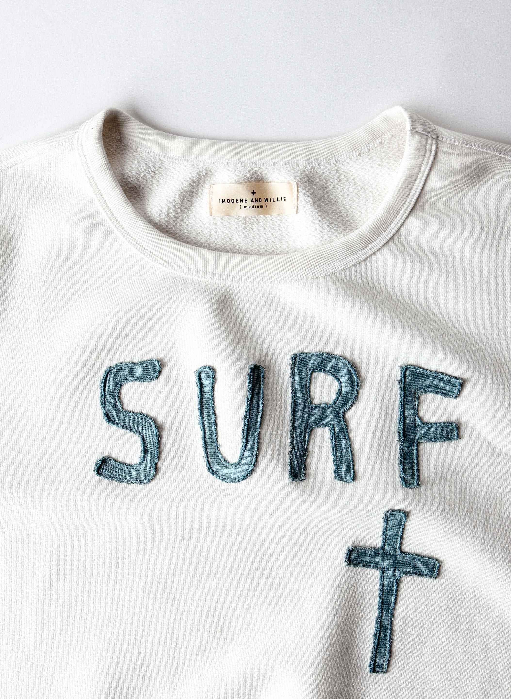 "imogene + willie - vintage stitched ""surf"" sweatshirt"