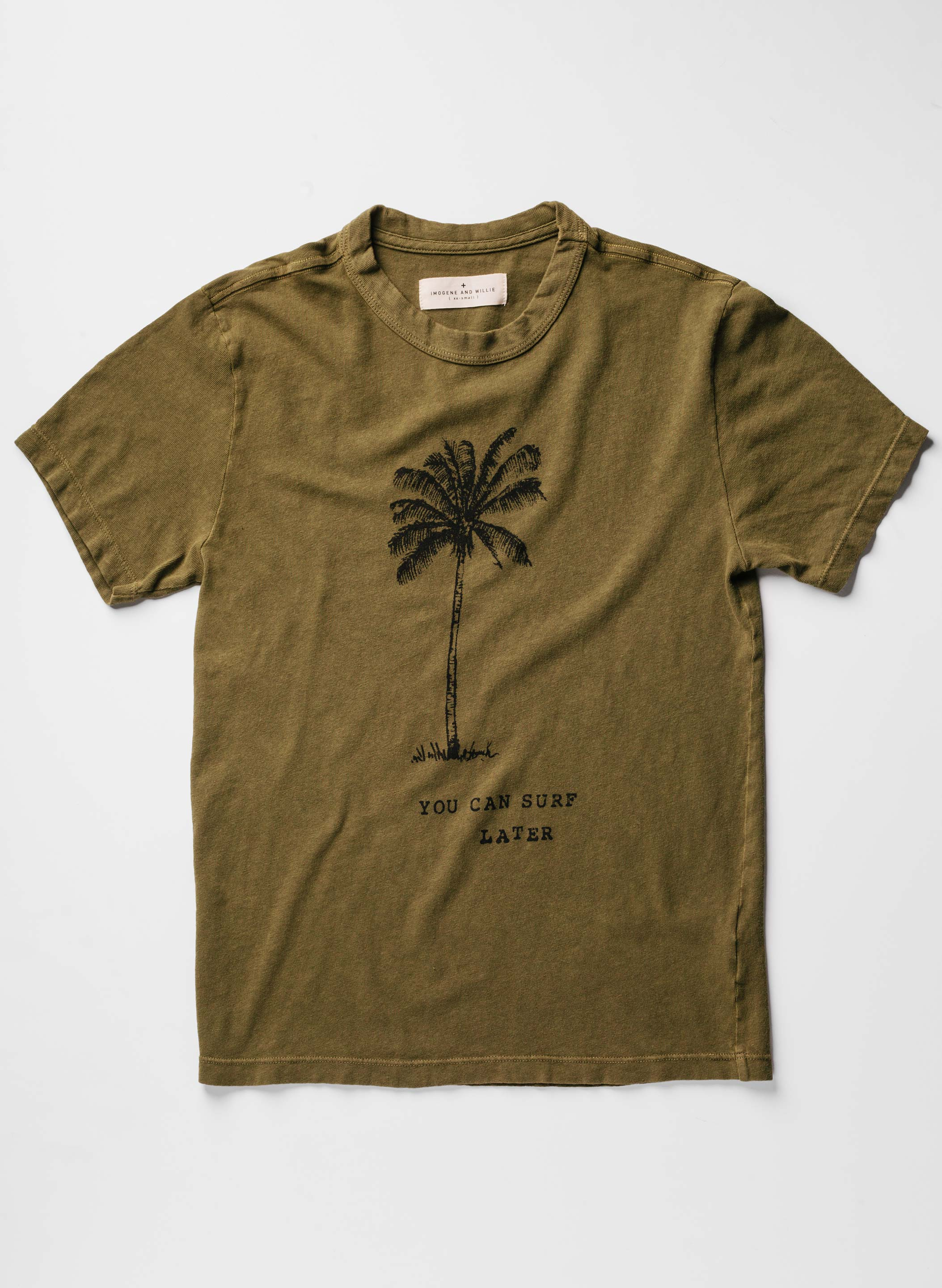 "imogene + willie - the ""surf later"" tee"