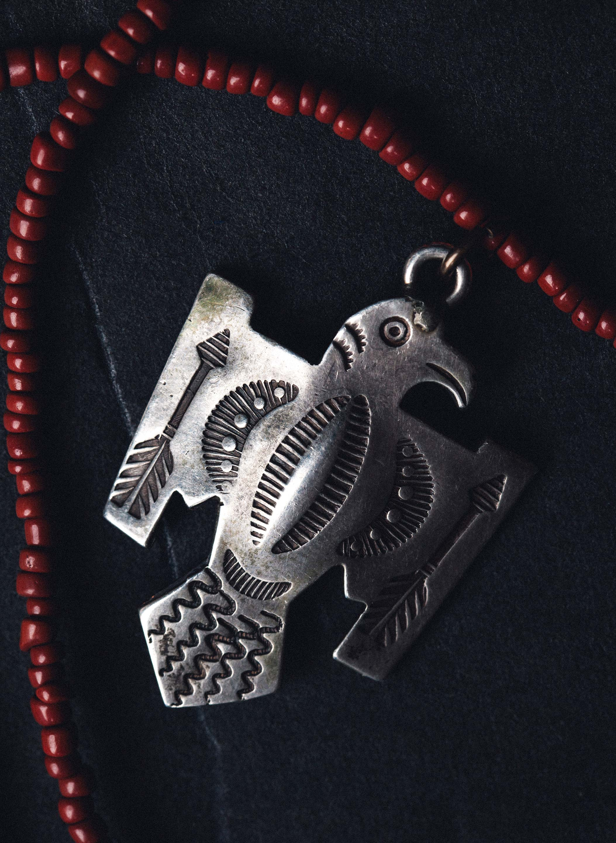 "imogene + willie - vintage ""thunderbird"" sterling pendant"