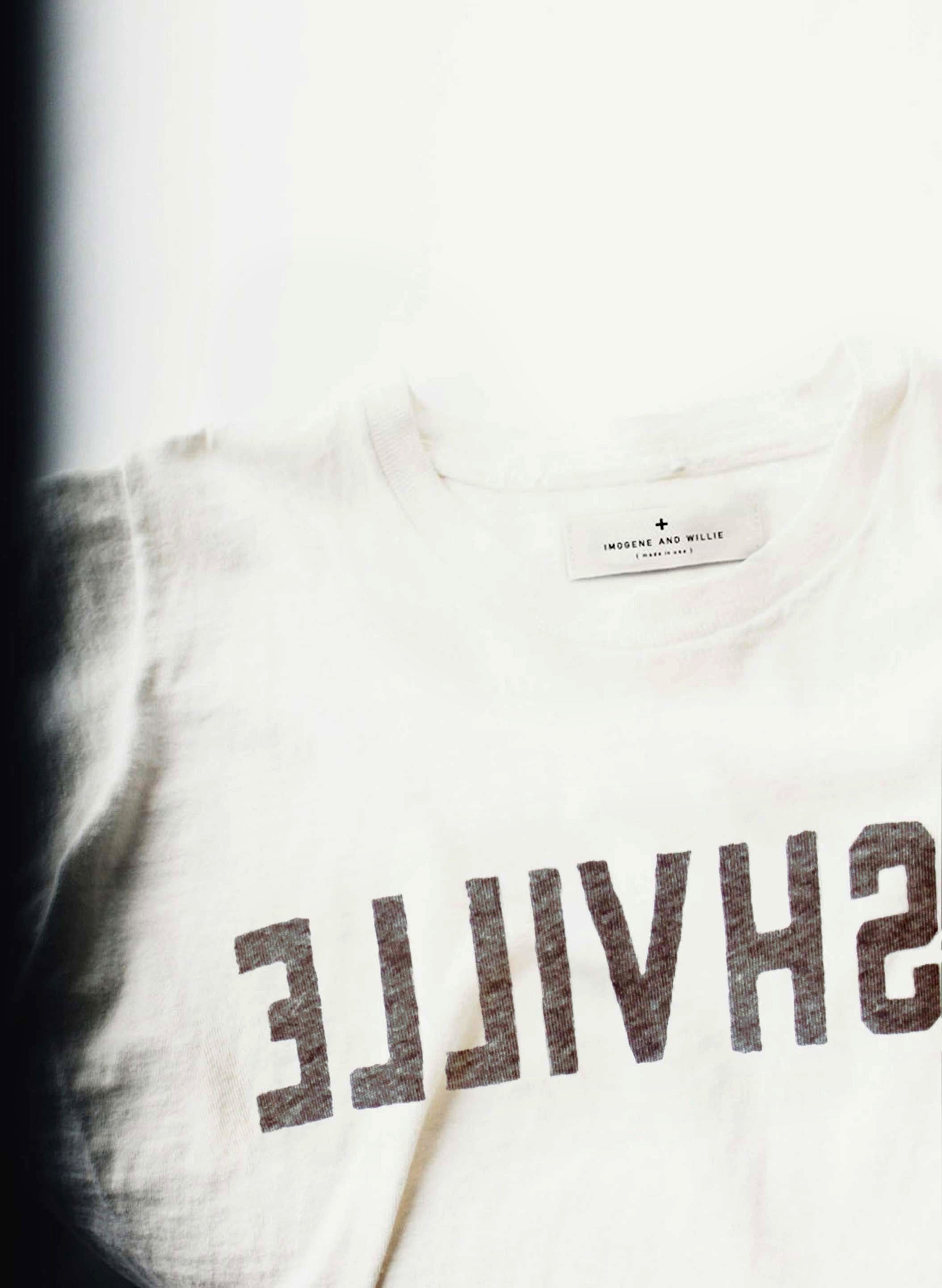 "imogene + willie - the ""nashville"" tee in vintage white"