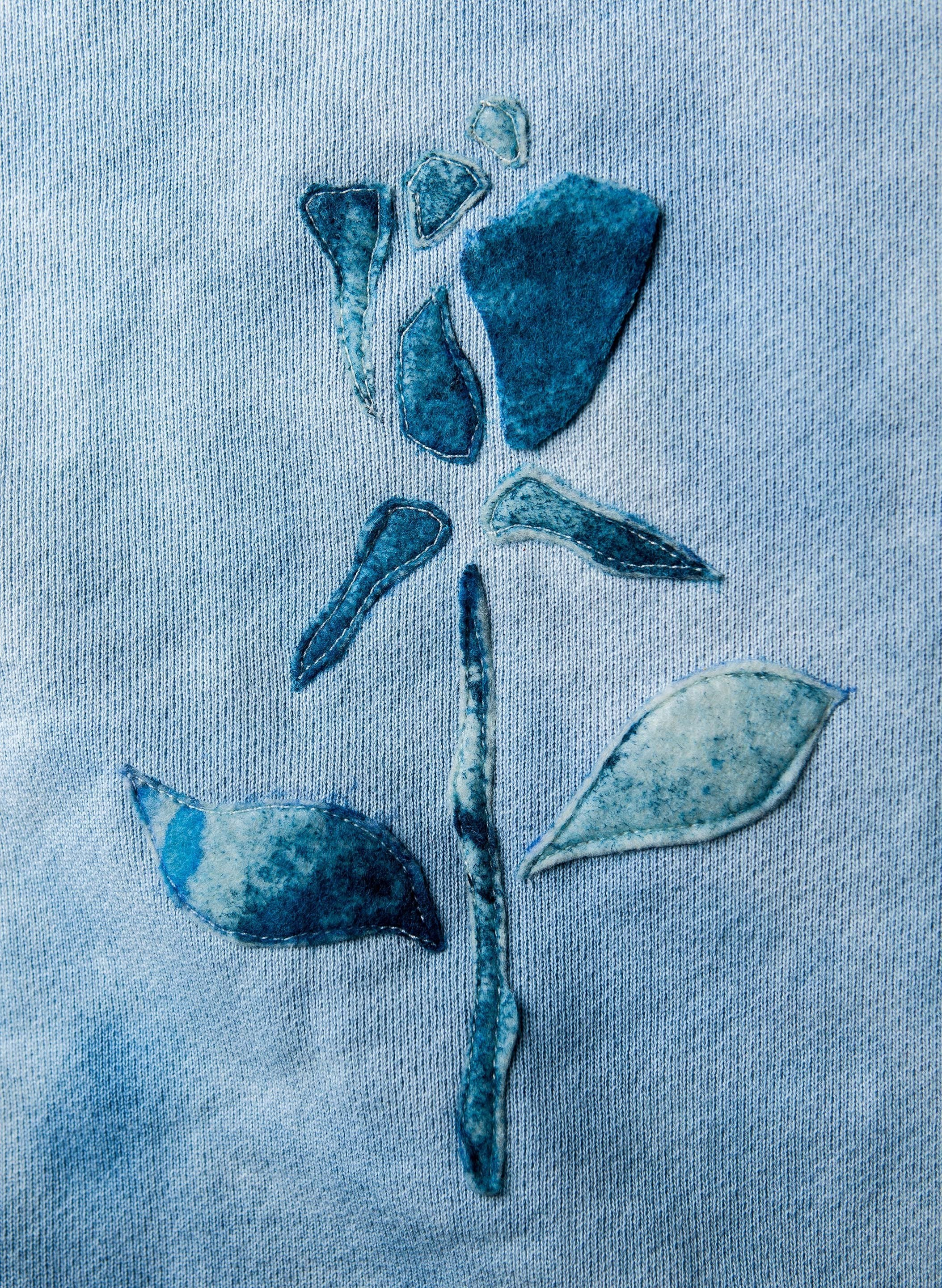 "imogene + willie - indigo dyed ""thorns"" sweatshirt"