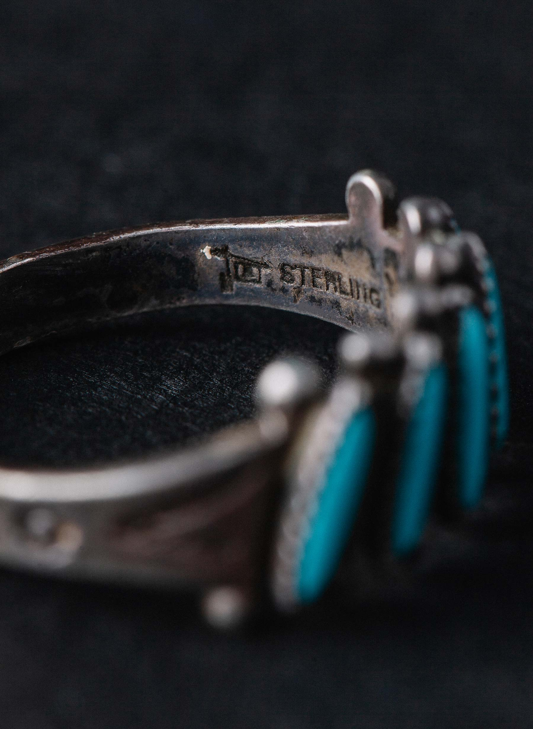 "imogene + willie - vintage ""mahpe"" turquoise ring"