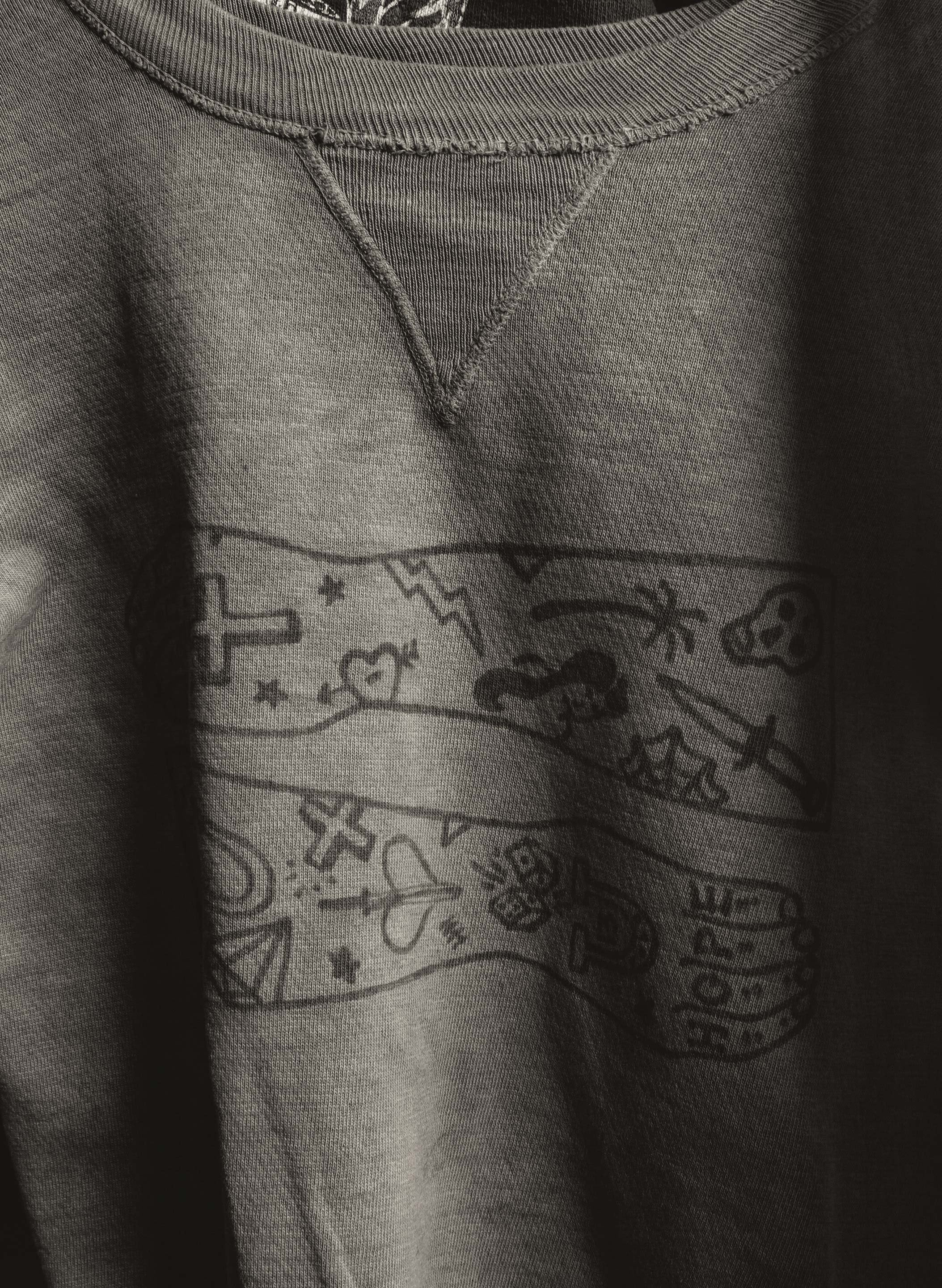 "imogene + willie - hand drawn ""tattooed"" vintage sweatshirt"