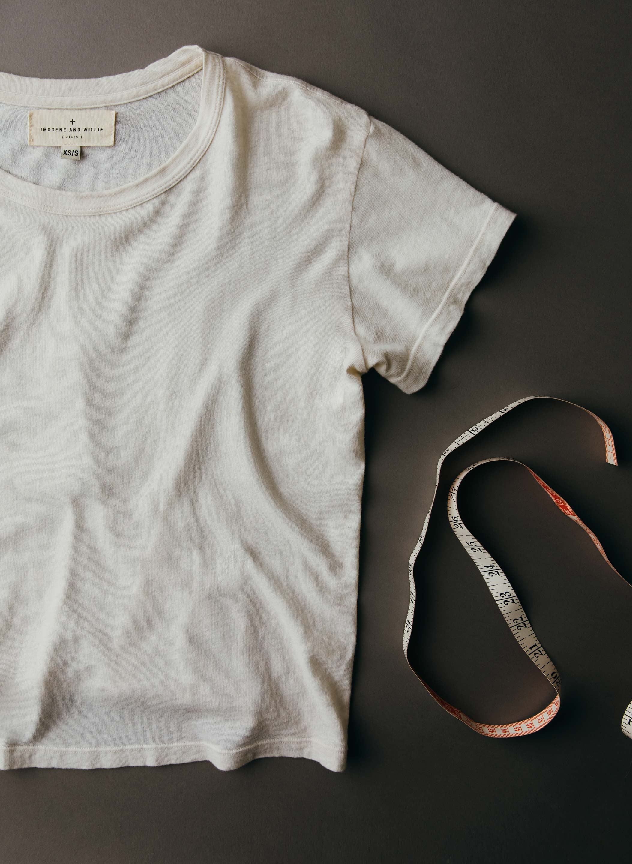 imogene + willie - the drop tee in vintage white