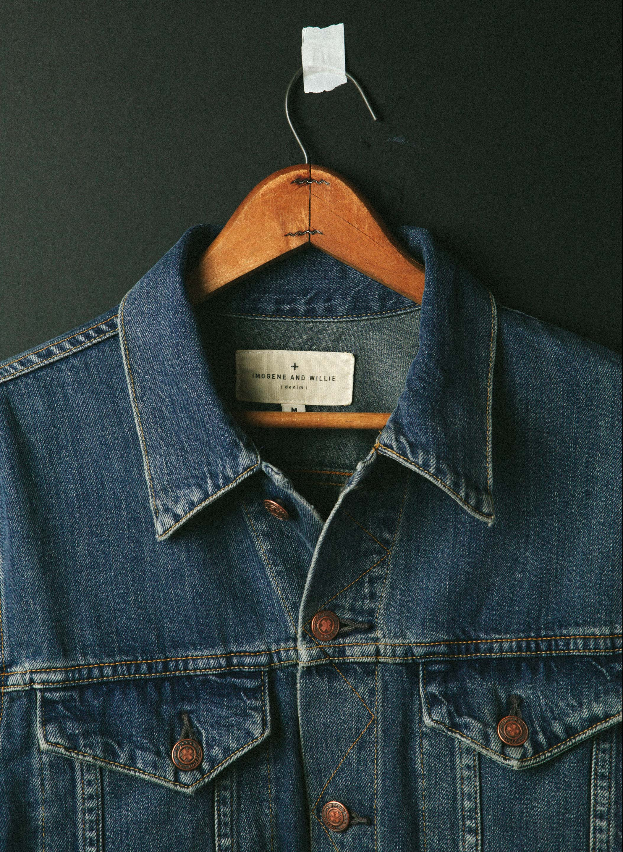 imogene + willie - wilkins jacket in washed indigo