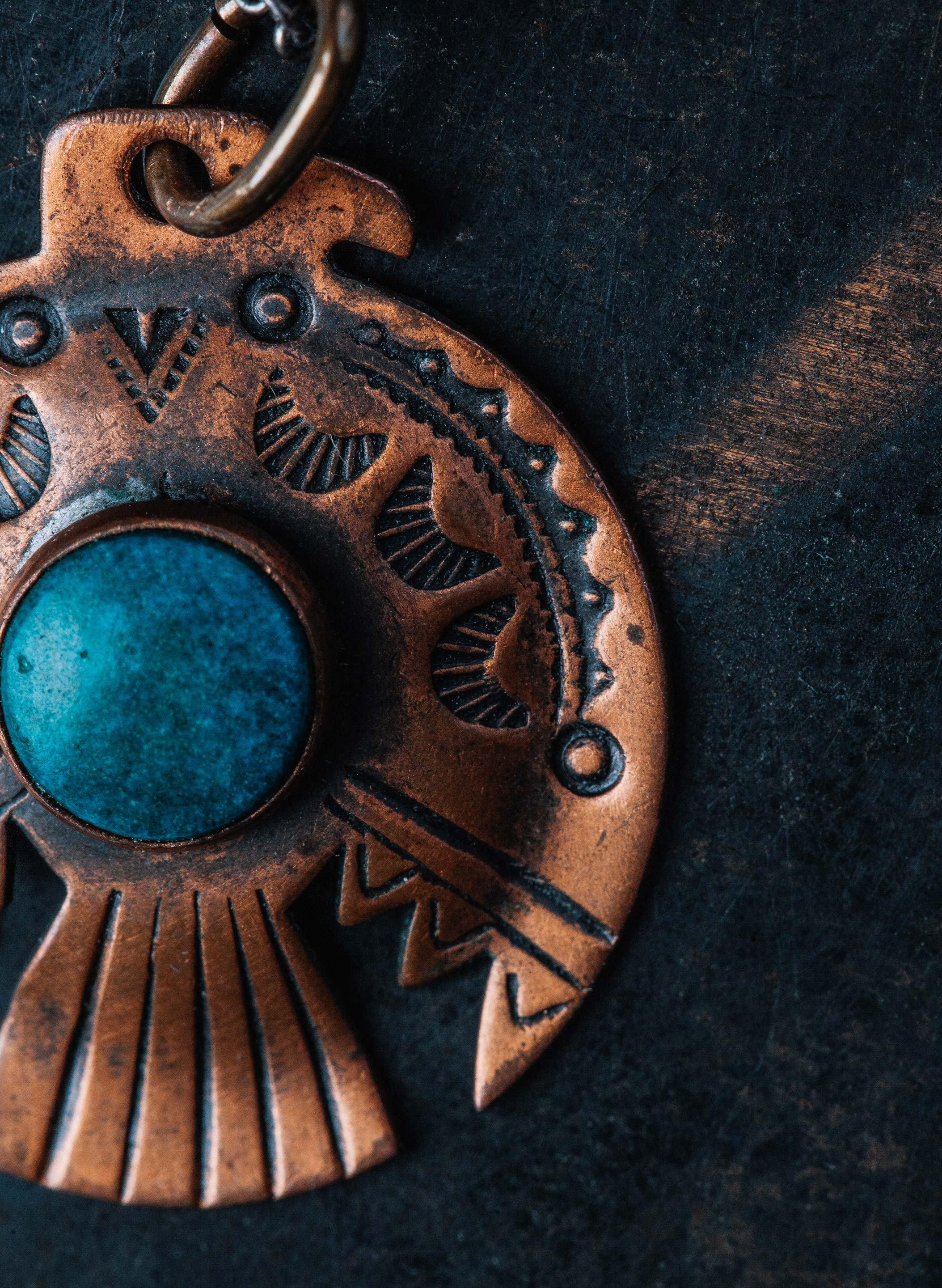 "imogene + willie - vintage ""łana"" copper pendant"