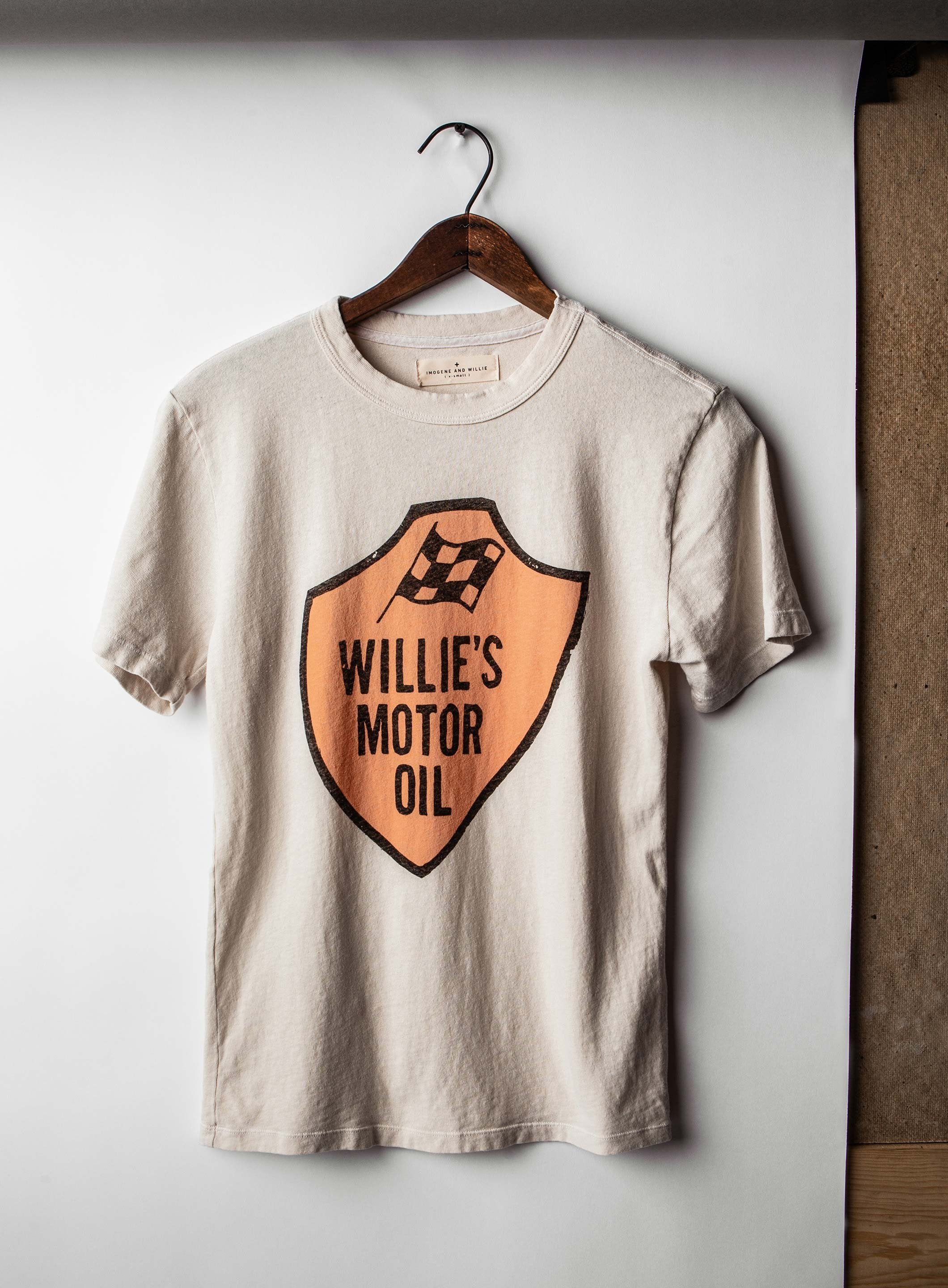 "the ""willie's motor oil"" tee (vintage white)"