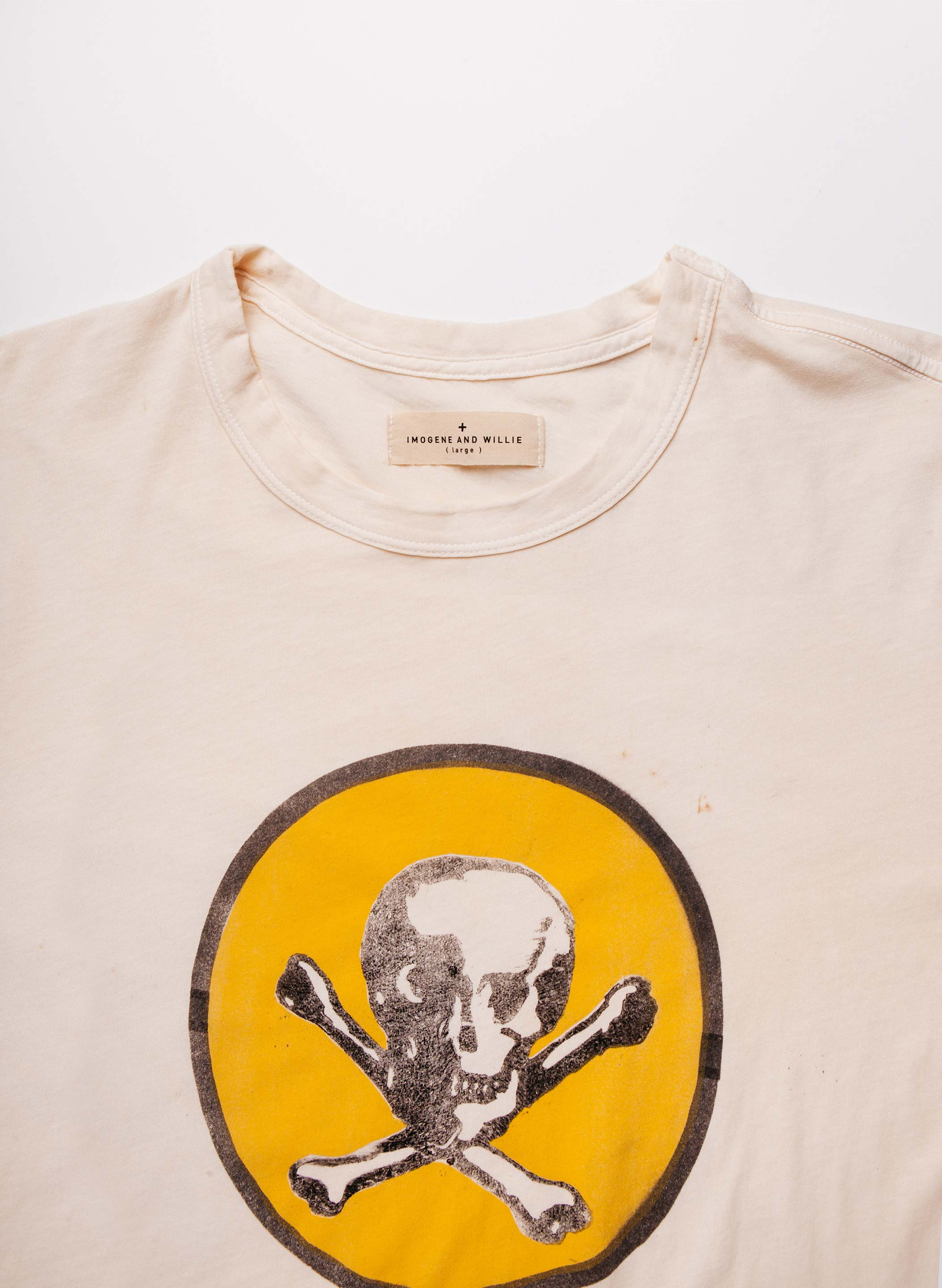 "imogene + willie - handpainted ""sin nombre"" tee"