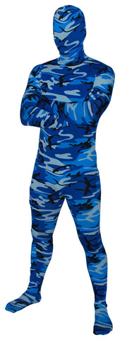 Blue Winter Camo Full Body Suit