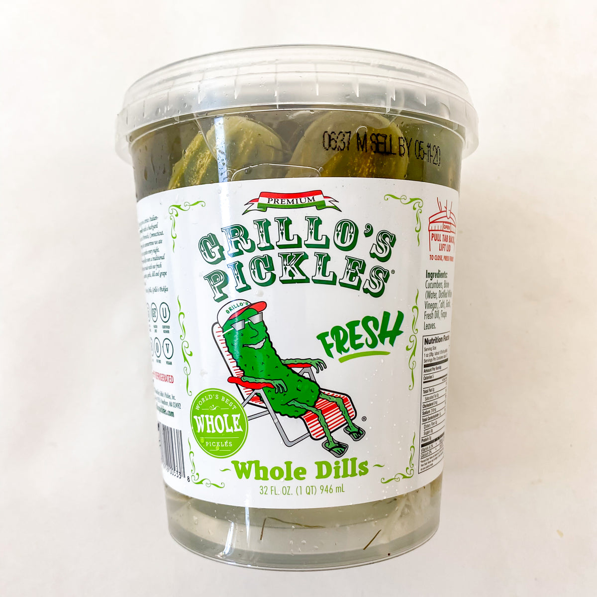 Grillo's Pickles Whole Dill