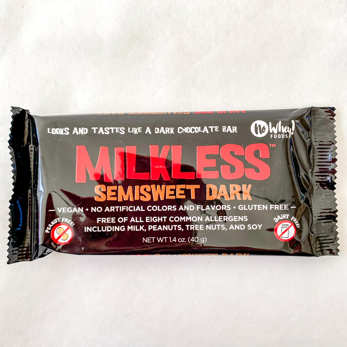 No Whey Milkless Semisweet Dark Chocolate Bar