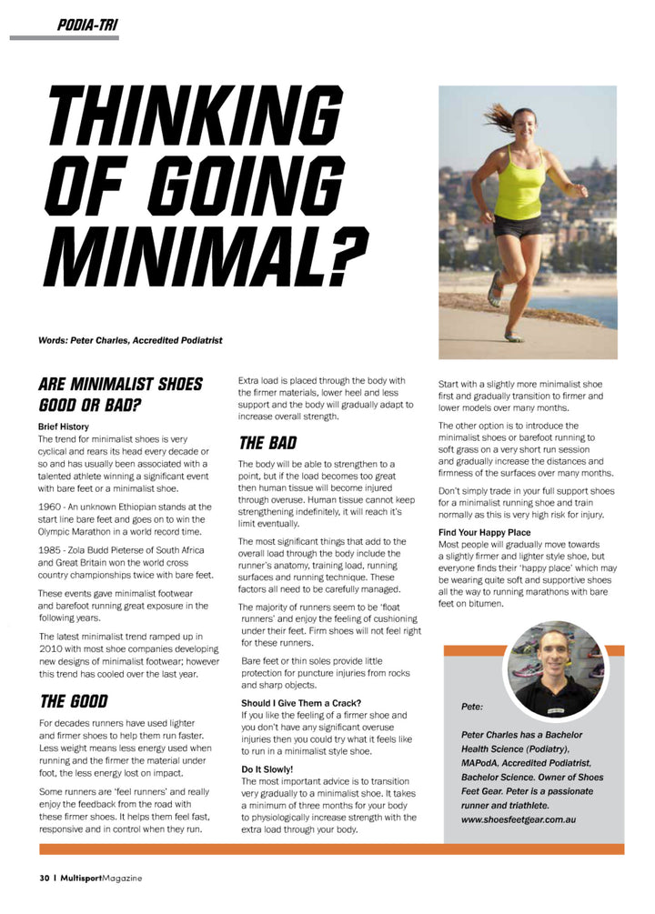 Should I try barefoot or minimalist running?