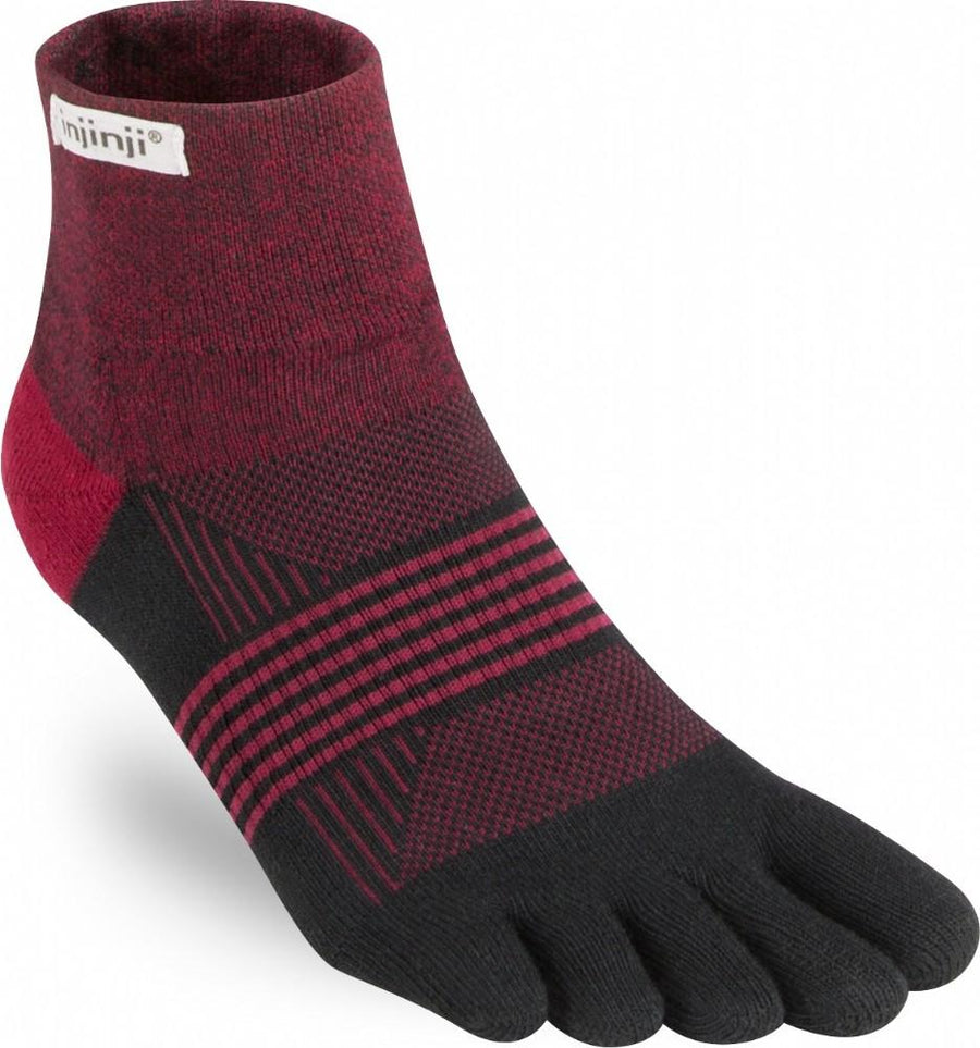 INJINJI PERFORMANCE TRAIL MIDWEIGHT MINI-CREW (WOMENS) - EMBER