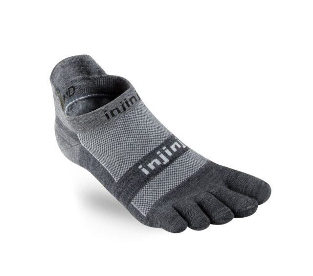 INJINJI PERFORMANCE RUN NO-SHOW LIGHTWEIGHT (WOMENS) - BLACK/GREY