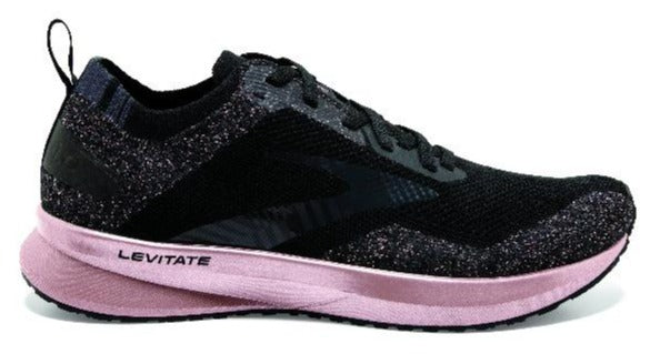 BROOKS LEVITATE 4 (B WIDTH) - BLACK/ROSE GOLD (WOMENS)